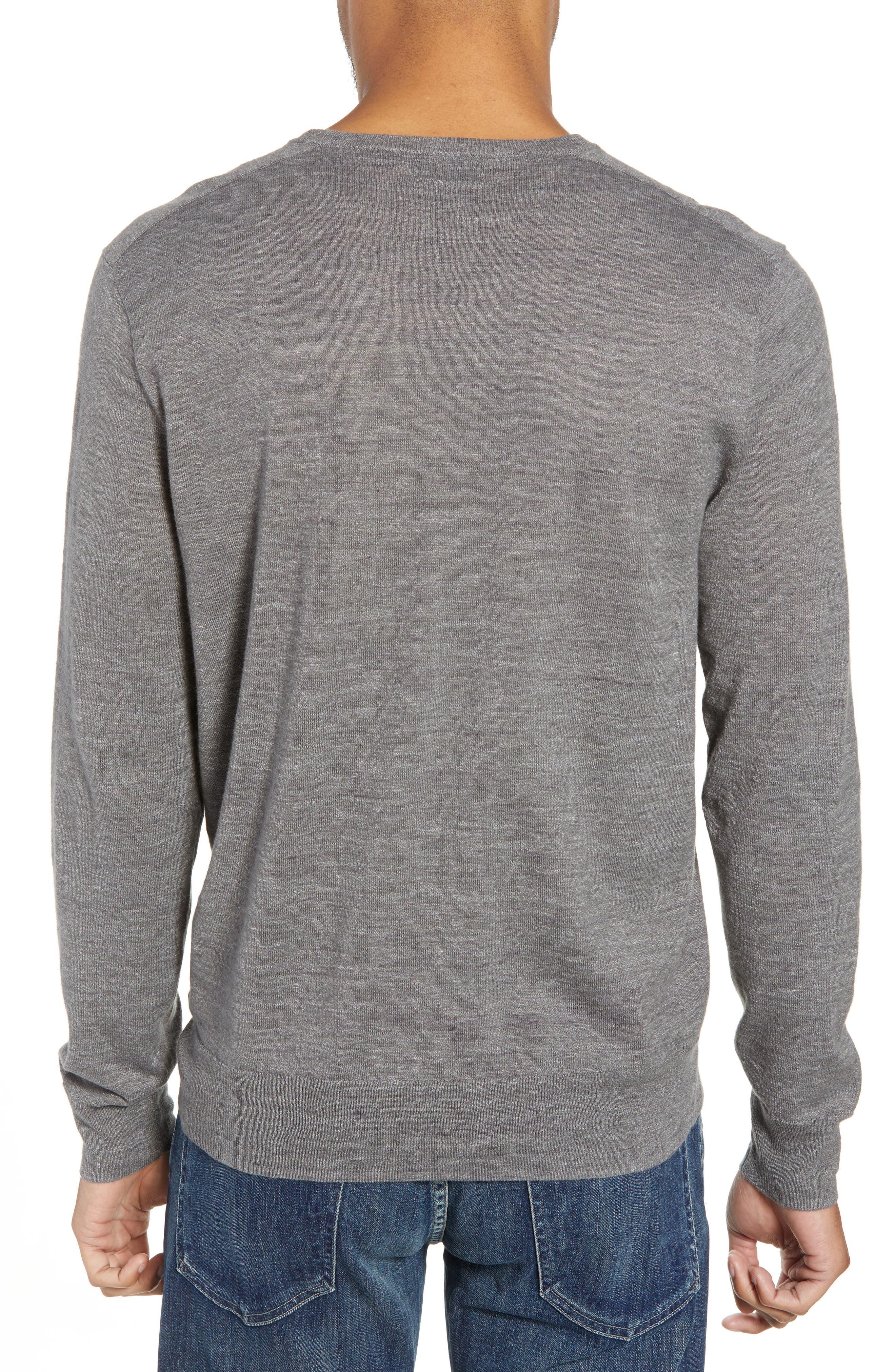 Cotton Blend Crewneck Sweater,                             Alternate thumbnail 5, color,