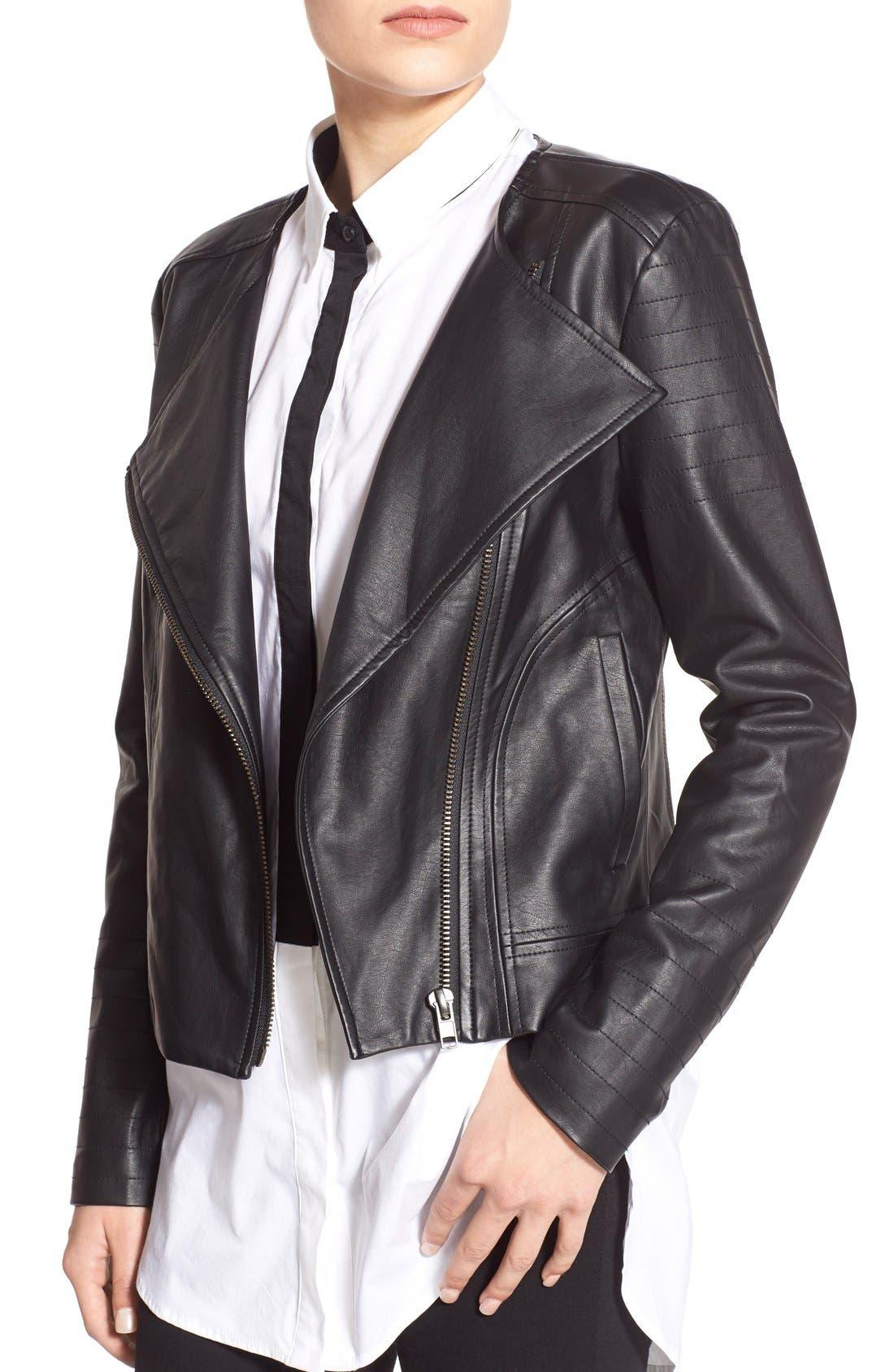 'Helena' Faux Leather Jacket,                             Alternate thumbnail 2, color,                             001