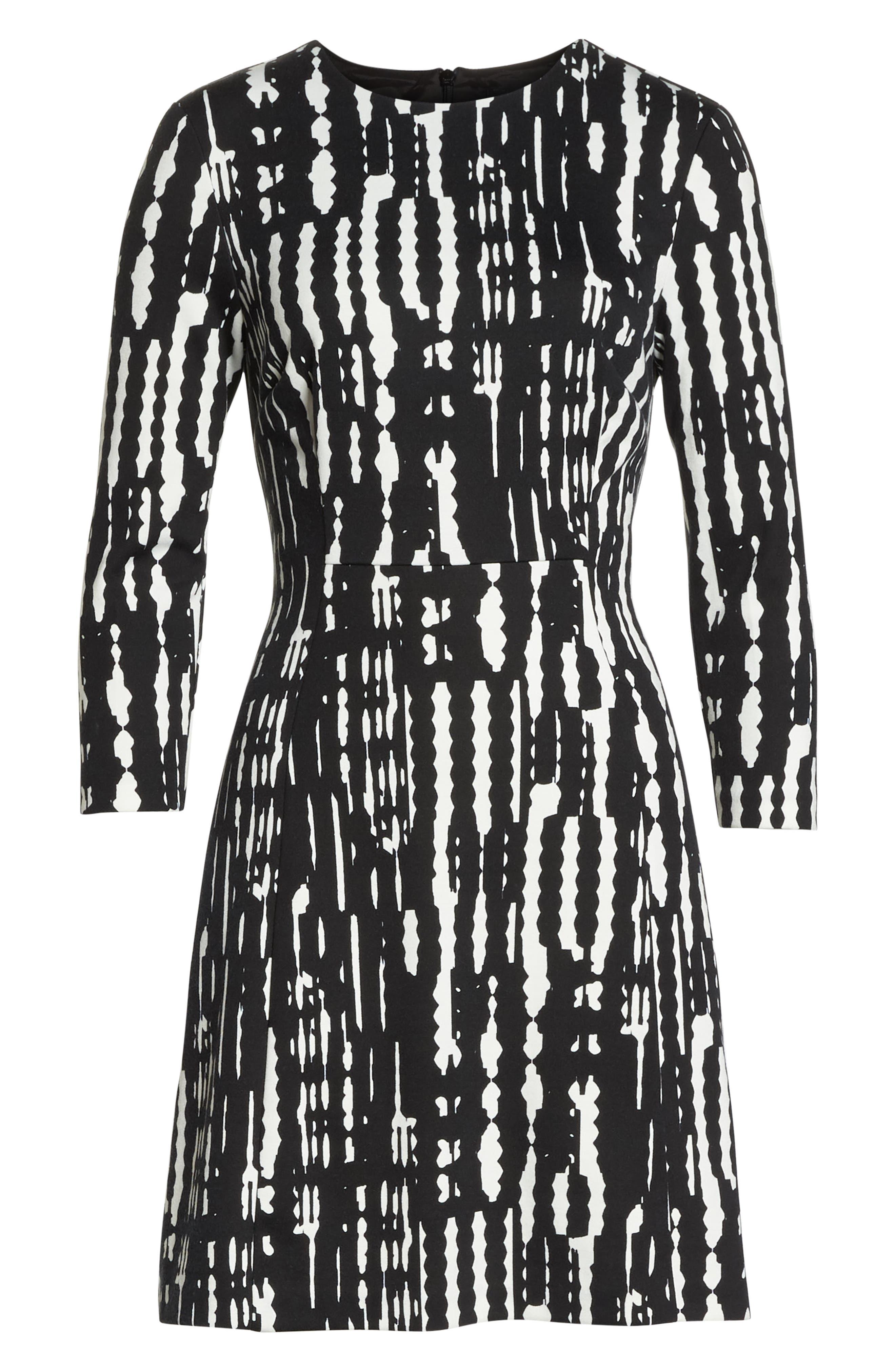 Leoti Morelia Stripe Dress,                             Alternate thumbnail 6, color,                             001