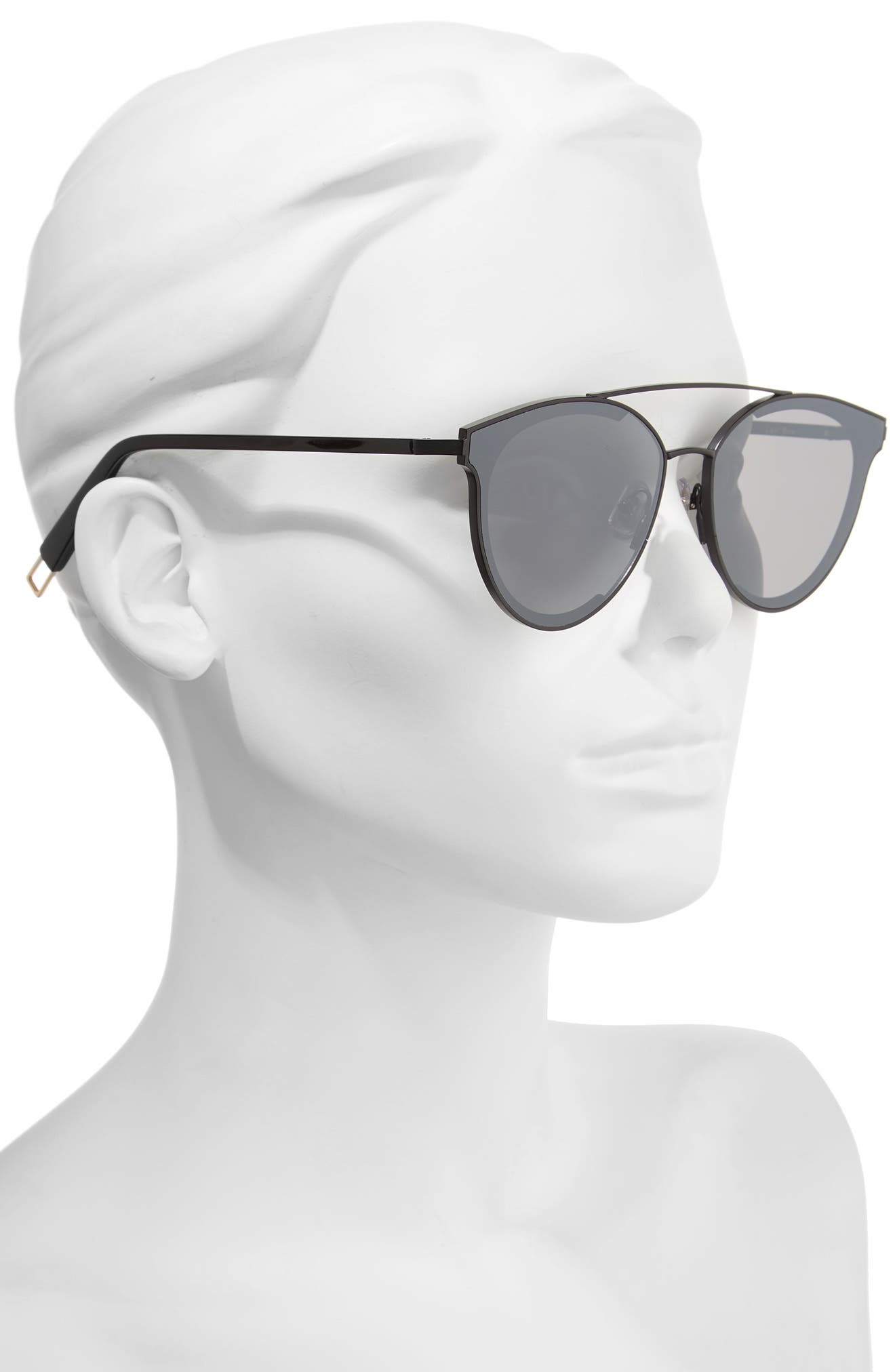 Last Bow 63mm Oversized Sunglasses,                             Alternate thumbnail 2, color,                             001