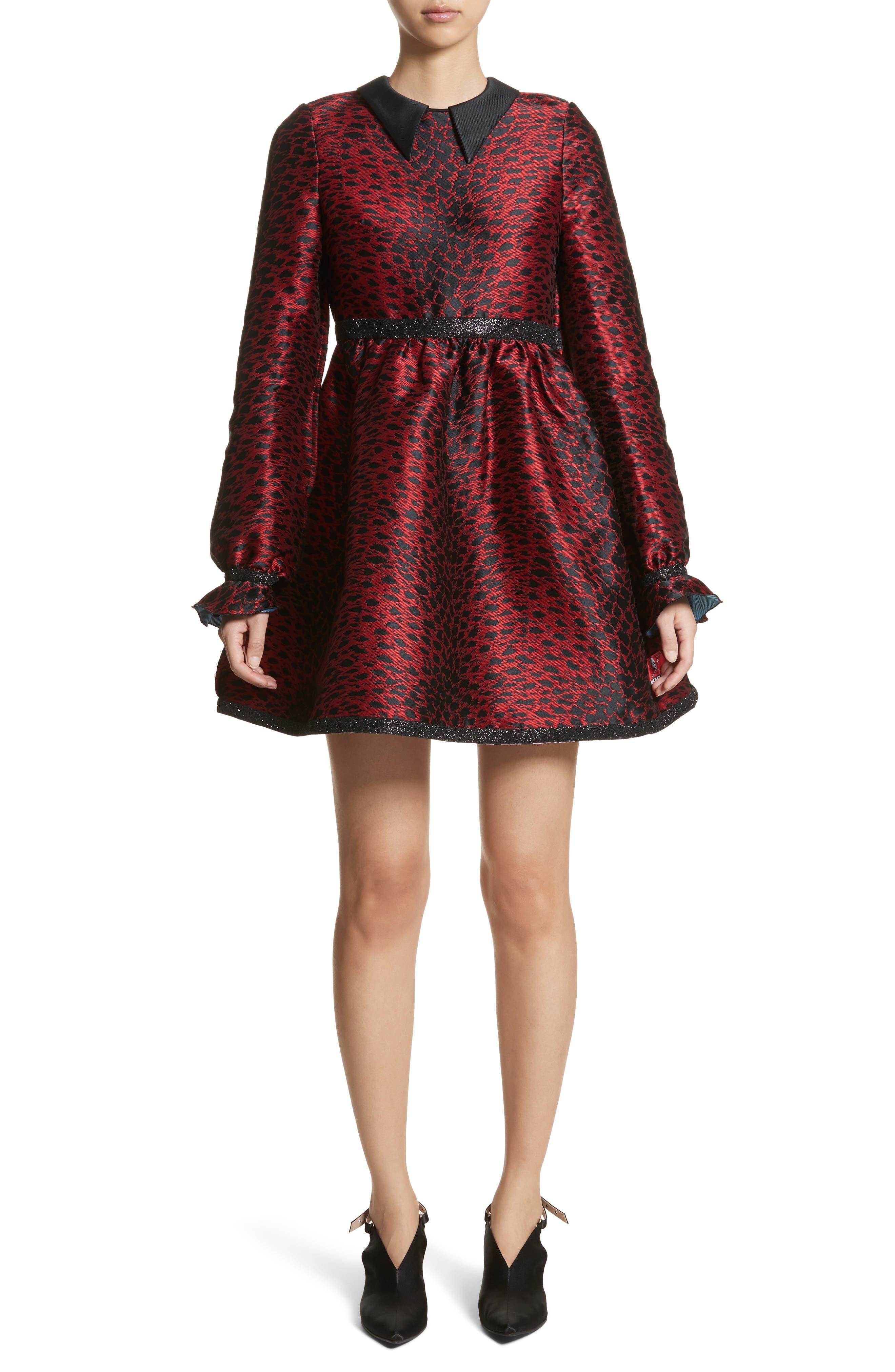 Leopard Reversible Minidress,                             Main thumbnail 1, color,