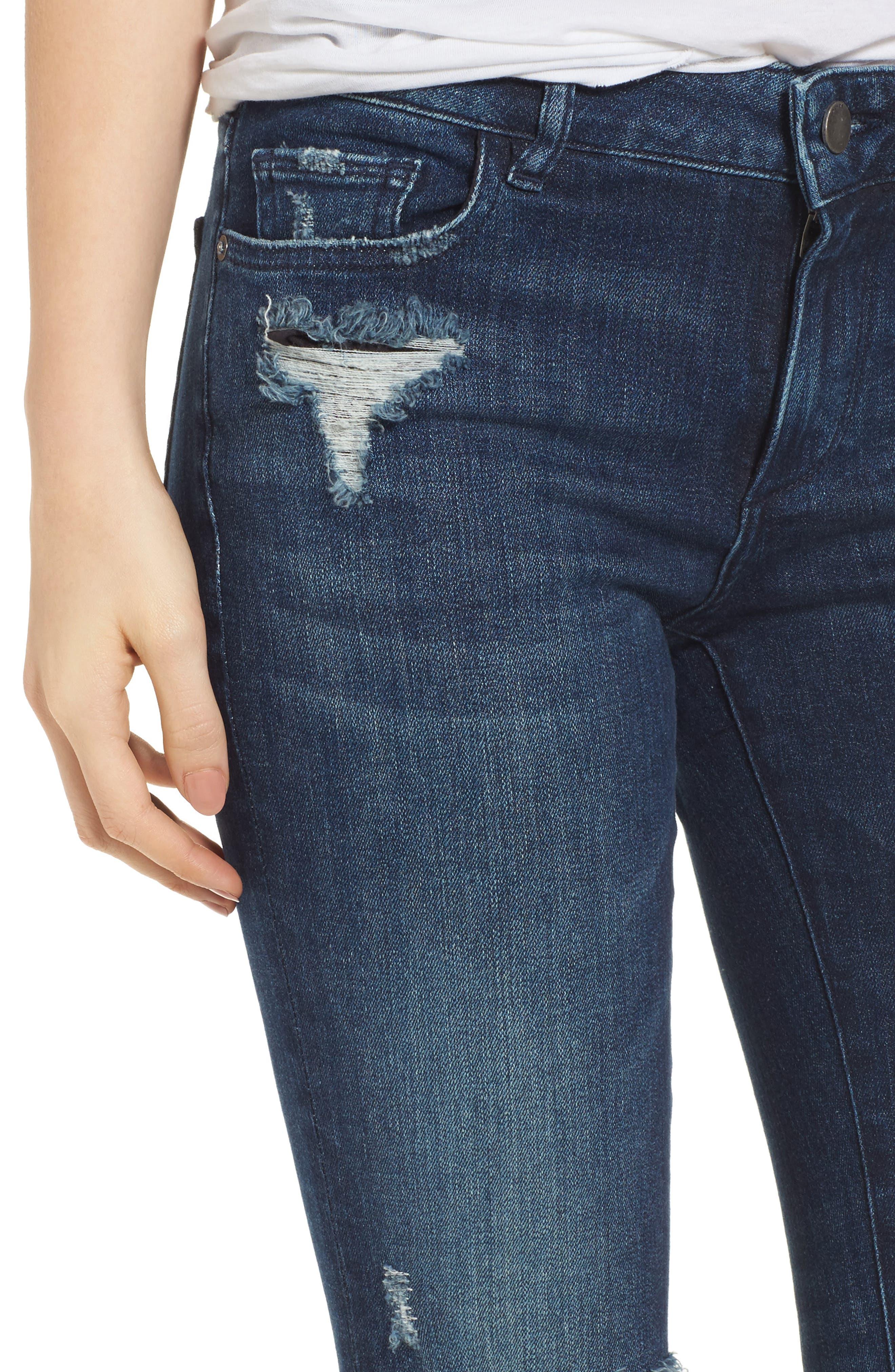Florence Instasculpt Crop Skinny Jeans,                             Alternate thumbnail 4, color,