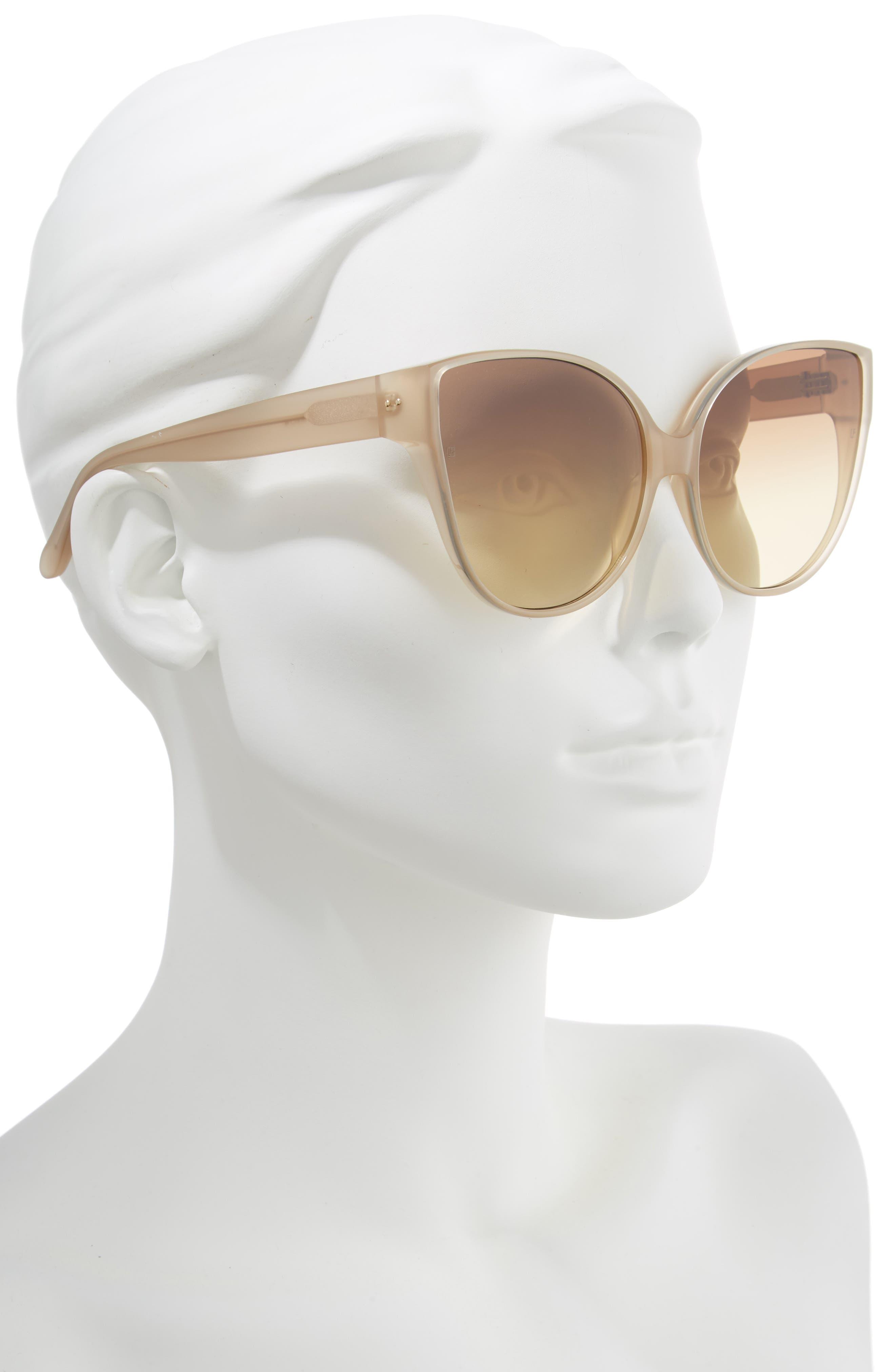 62mm Oversize Cat Eye Sunglasses,                             Alternate thumbnail 2, color,                             MILKY TOBACCO