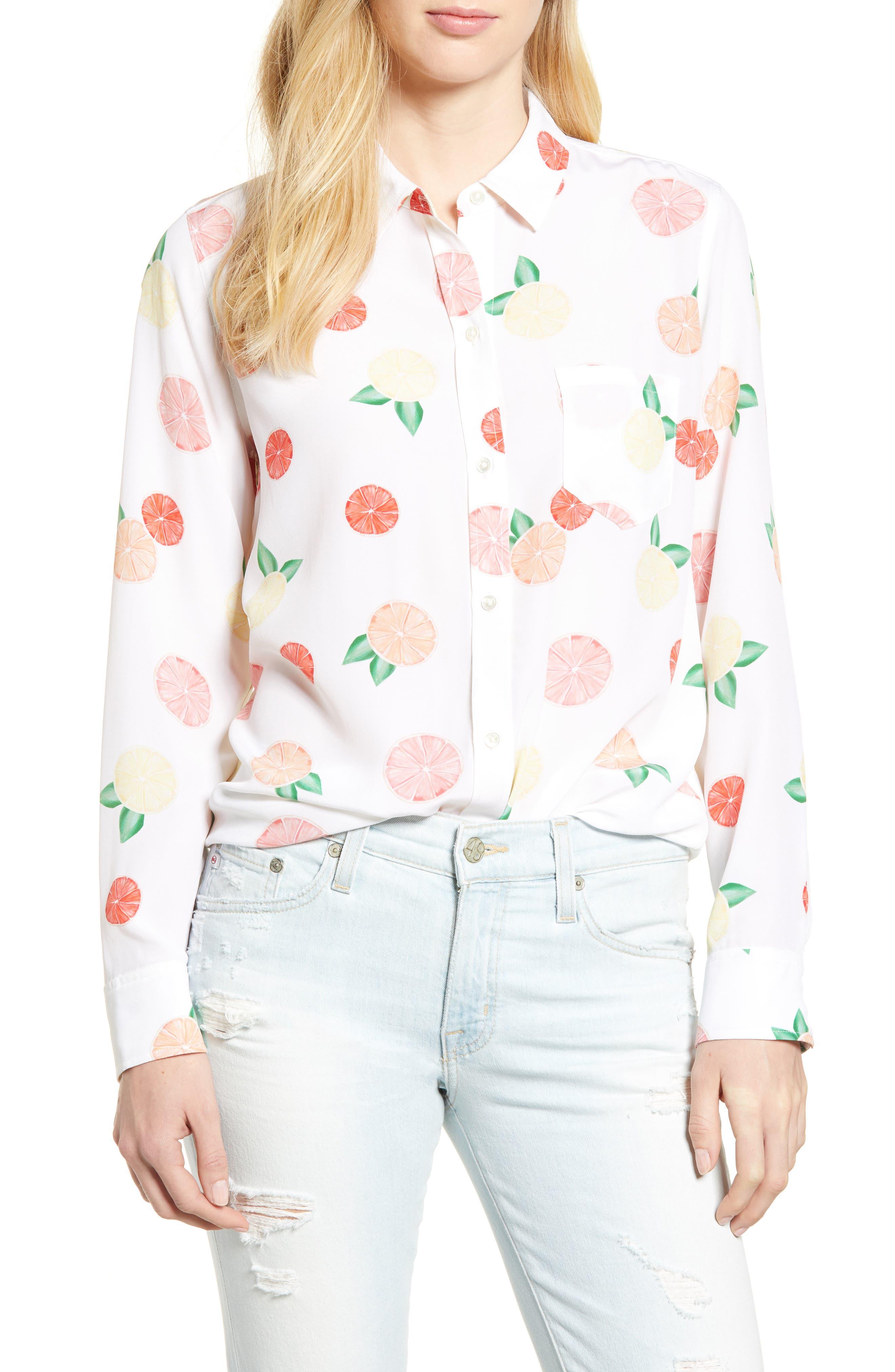 Kate Print Shirt,                             Main thumbnail 4, color,