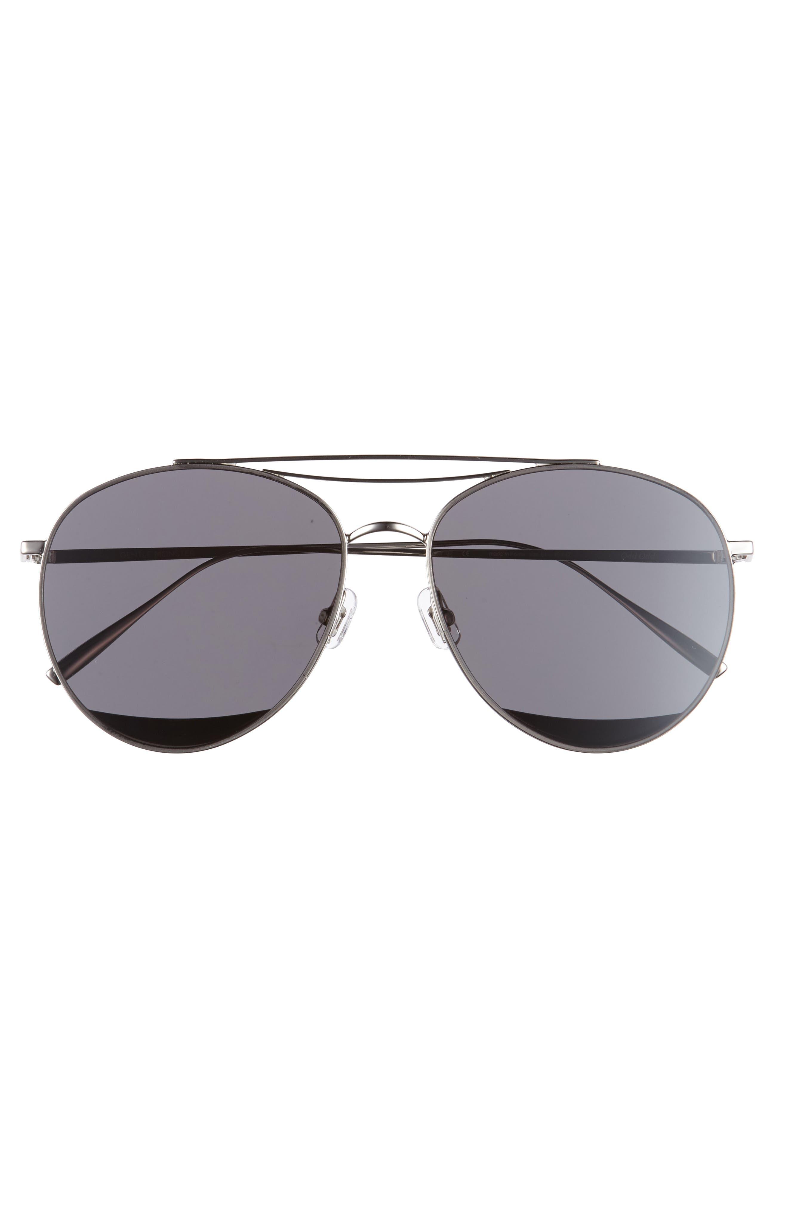 Odd Odd 61mm Aviator Sunglasses,                             Alternate thumbnail 3, color,                             040