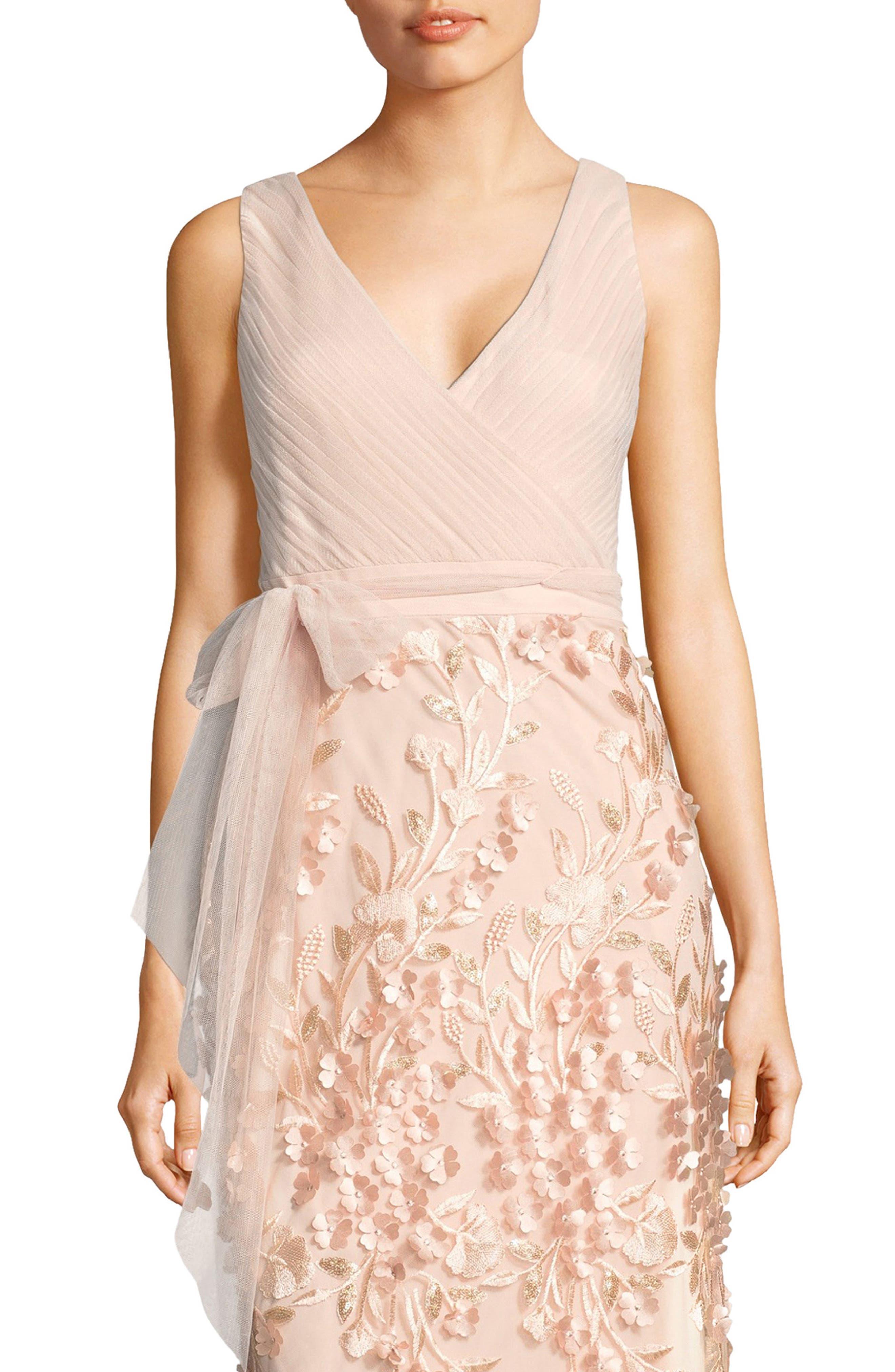 Petal Embellished Tulle Gown,                             Alternate thumbnail 4, color,                             684