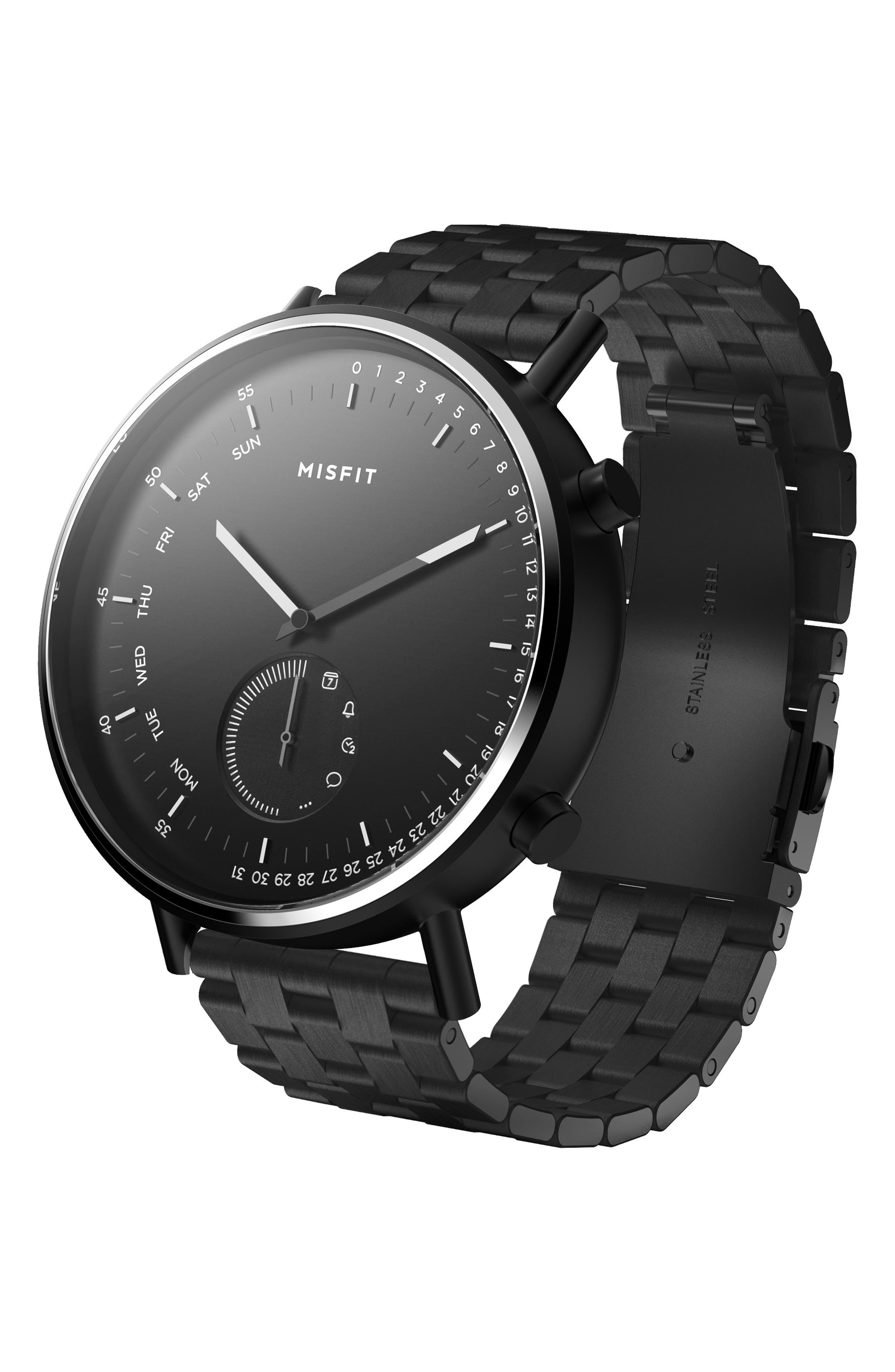 Command Hybrid Bracelet Smart Watch, 44mm,                             Main thumbnail 1, color,                             BLACK