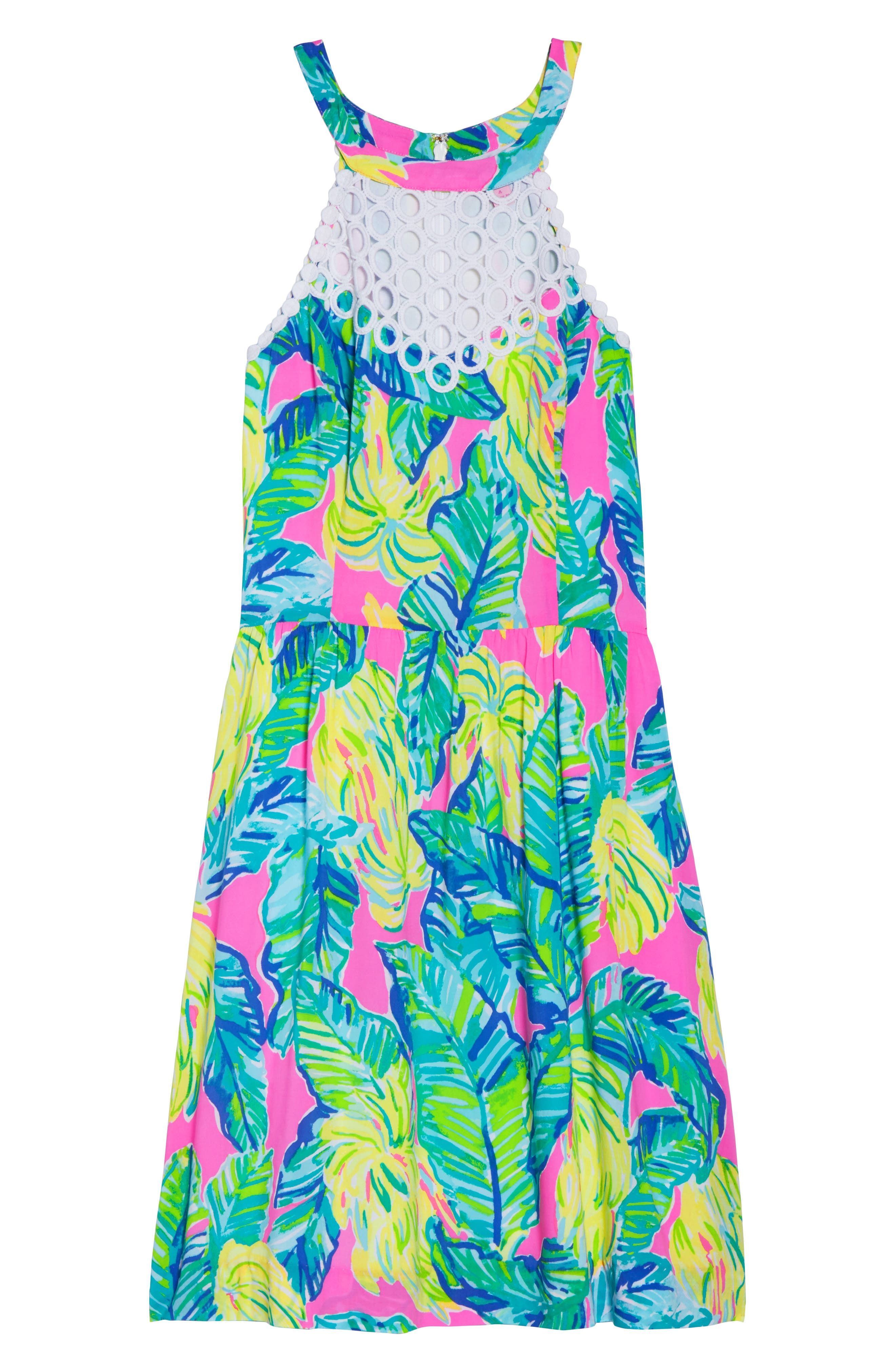 Kinley Halter Dress,                             Alternate thumbnail 7, color,                             PINK SUNSET LOCAL FLAVOR