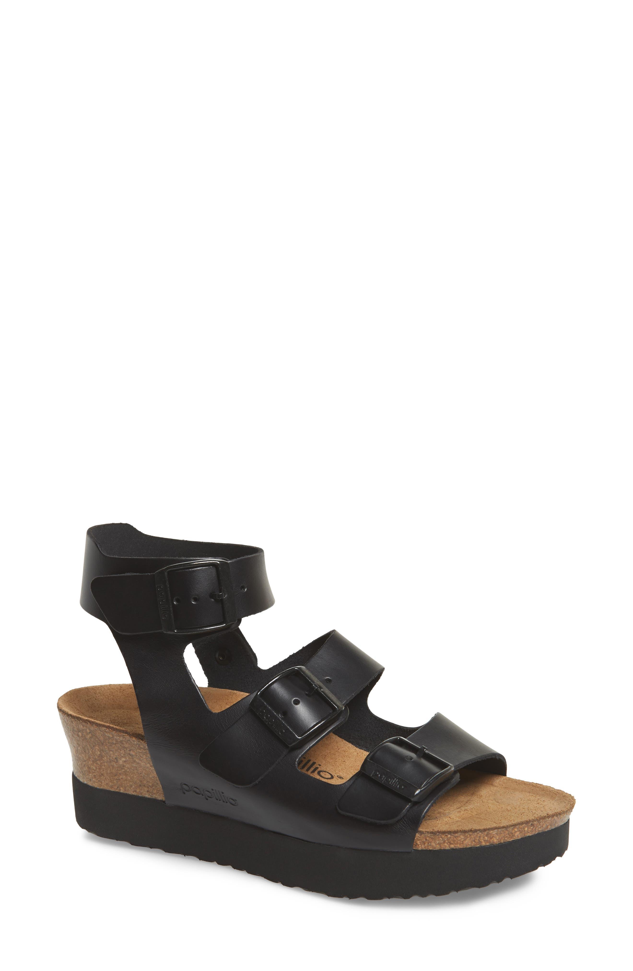 Papillio by Birkenstock Linnea Platform Sandal,                             Main thumbnail 1, color,                             001