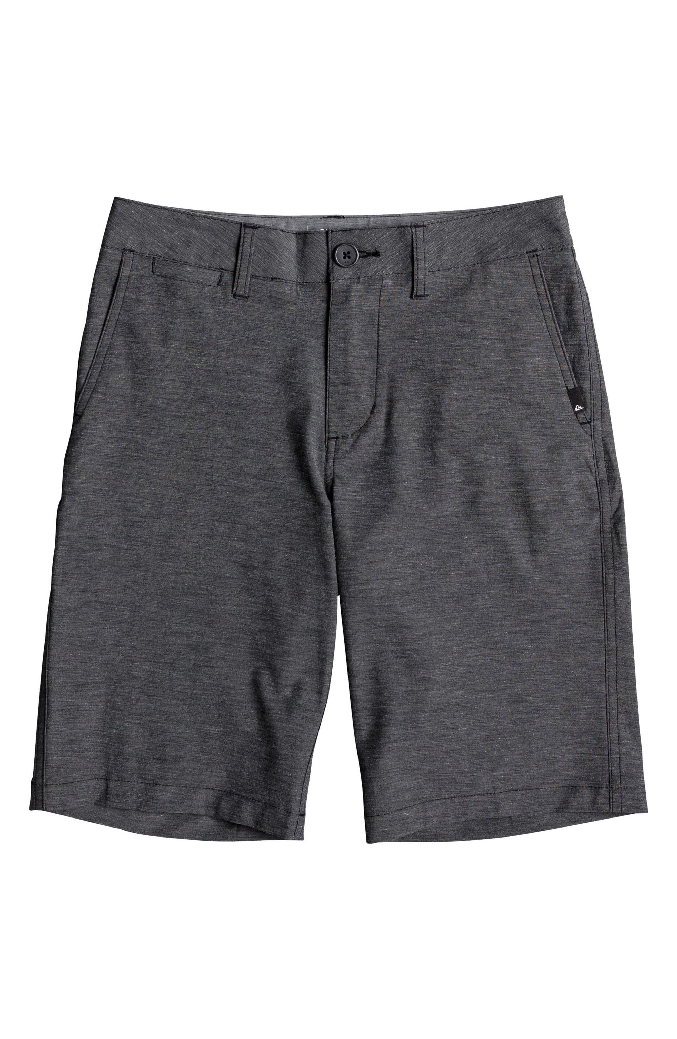 Union Heather Amphibian Hybrid Shorts,                             Main thumbnail 1, color,                             BLACK