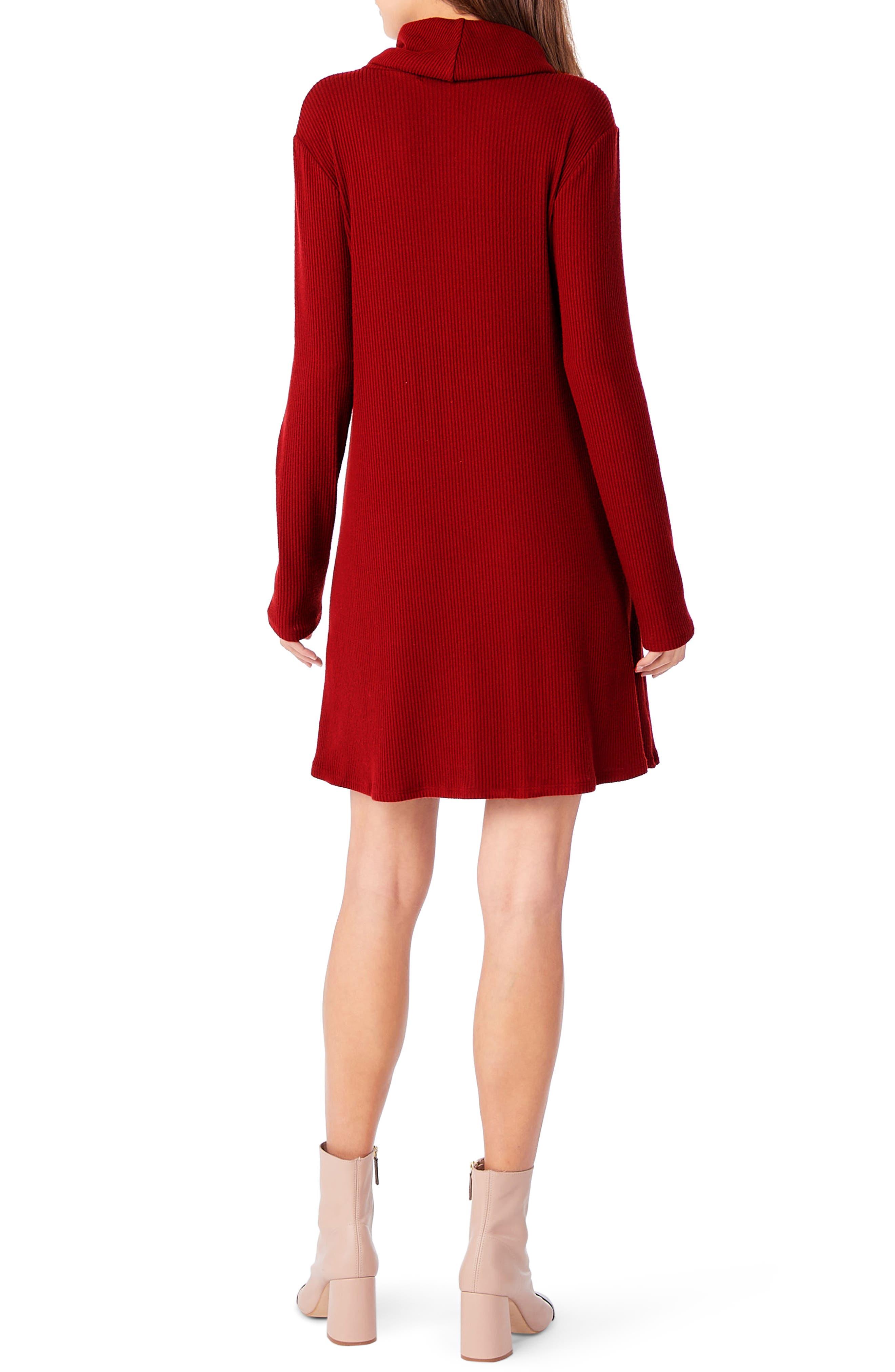 Cowl Neck Knit Dress,                             Alternate thumbnail 4, color,