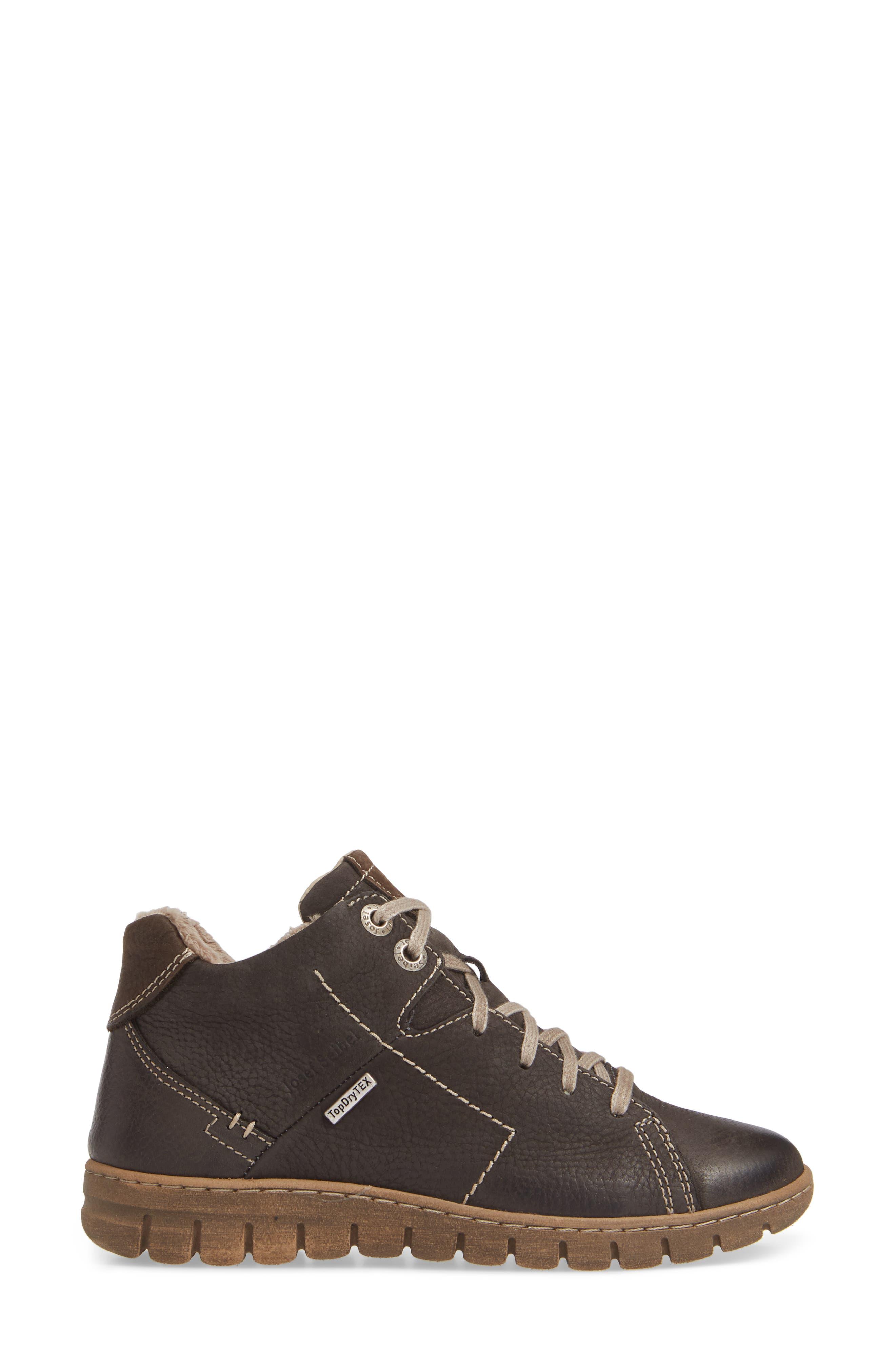 Steffi 58 Sneaker Bootie,                             Alternate thumbnail 3, color,                             TITAN LEATHER