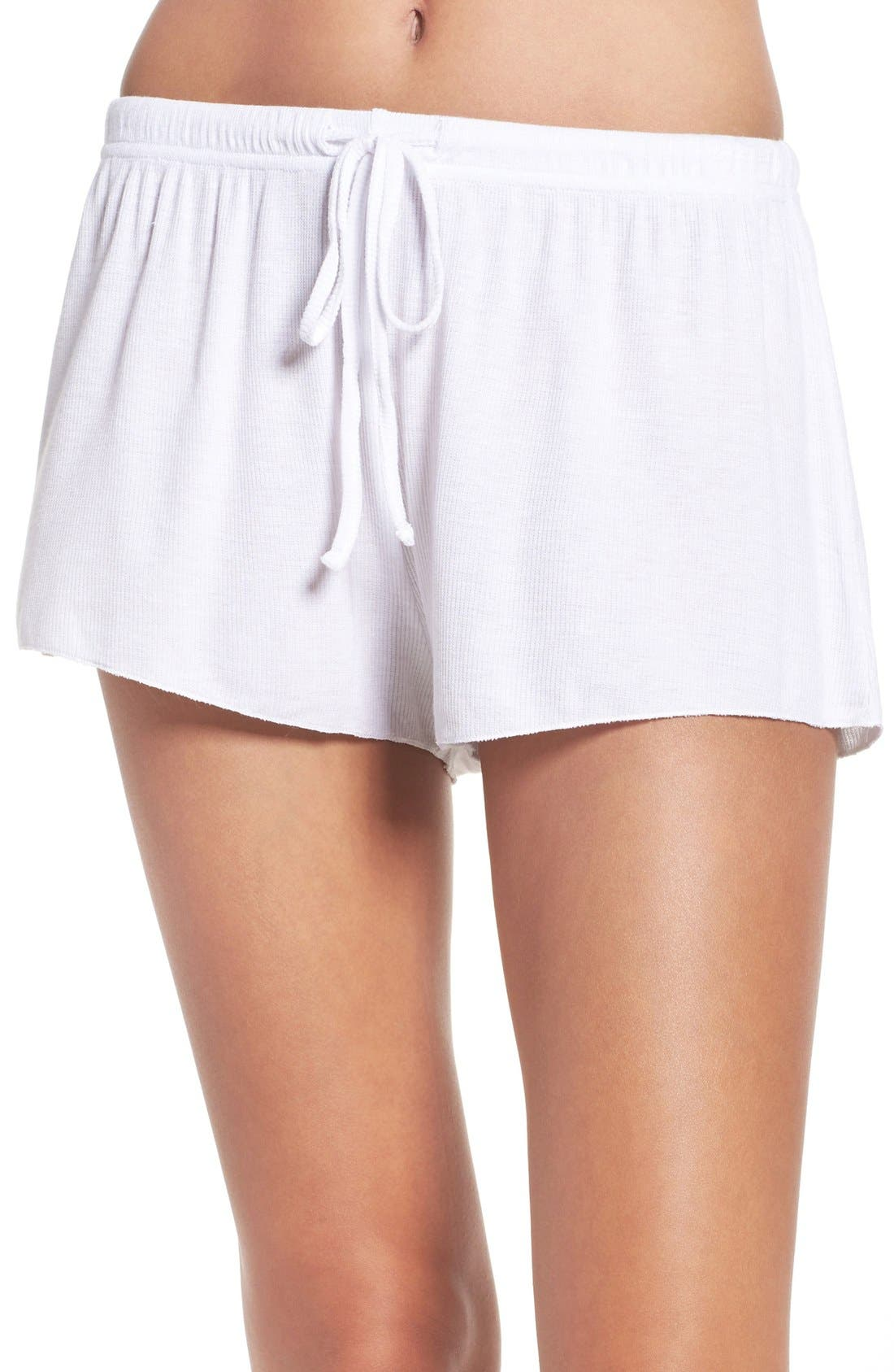 BAREFOOT DREAMS<SUP>®</SUP>,                             Luxe Lounge Shorts,                             Main thumbnail 1, color,                             100