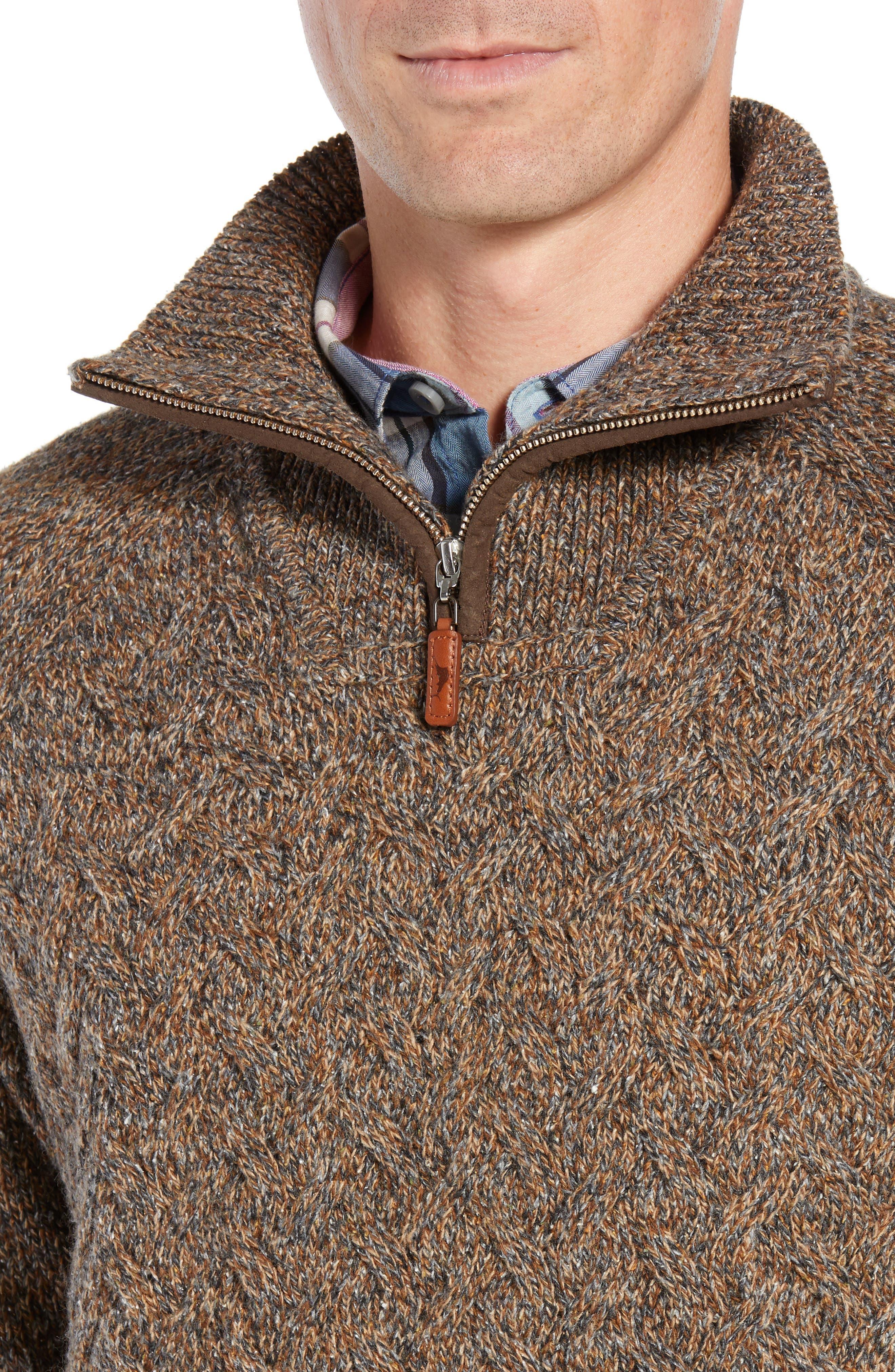 Irazu Half Zip Sweater,                             Alternate thumbnail 4, color,                             201