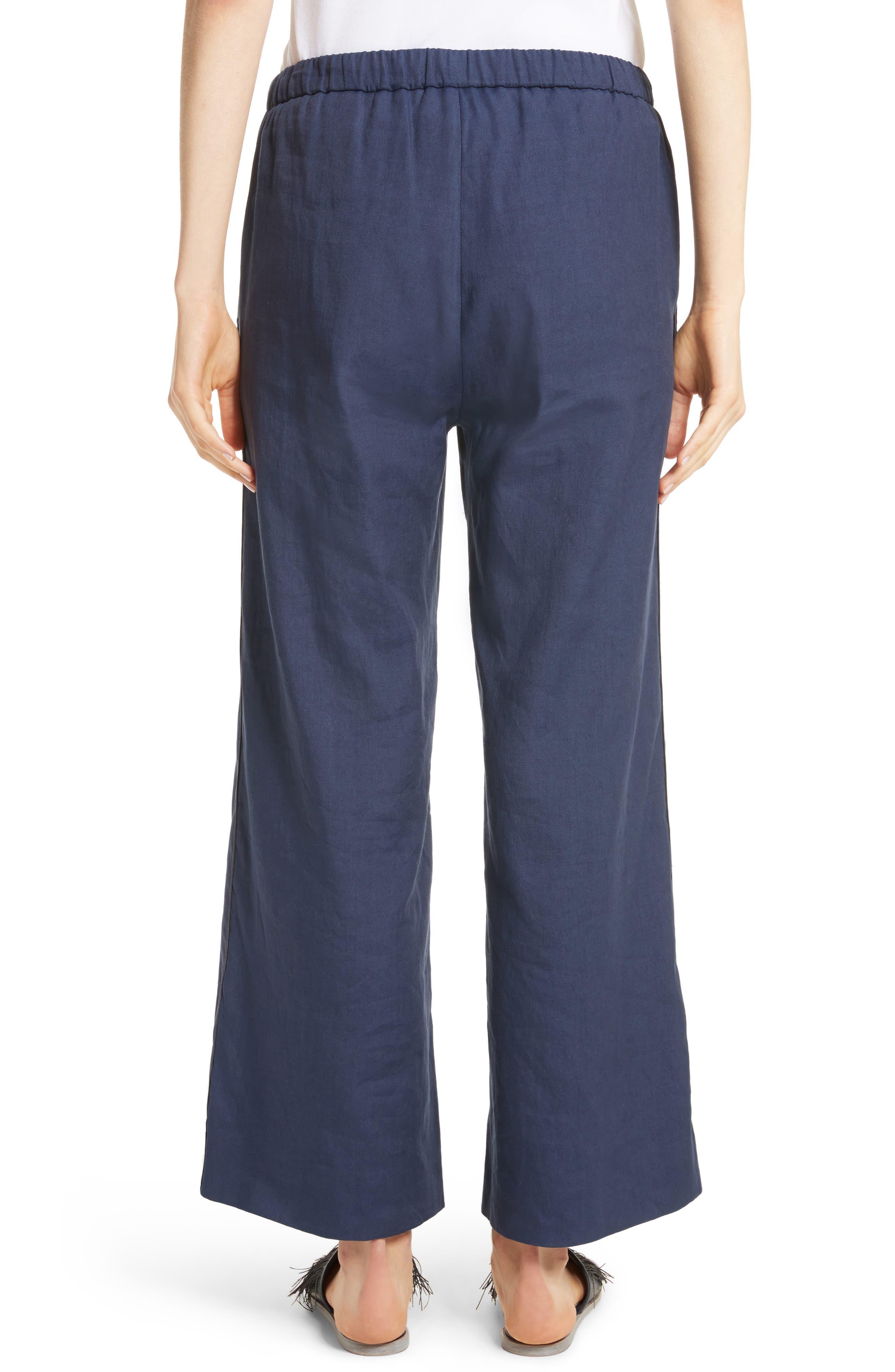 Linen Blend Wide Leg Crop Pants,                             Alternate thumbnail 2, color,                             400