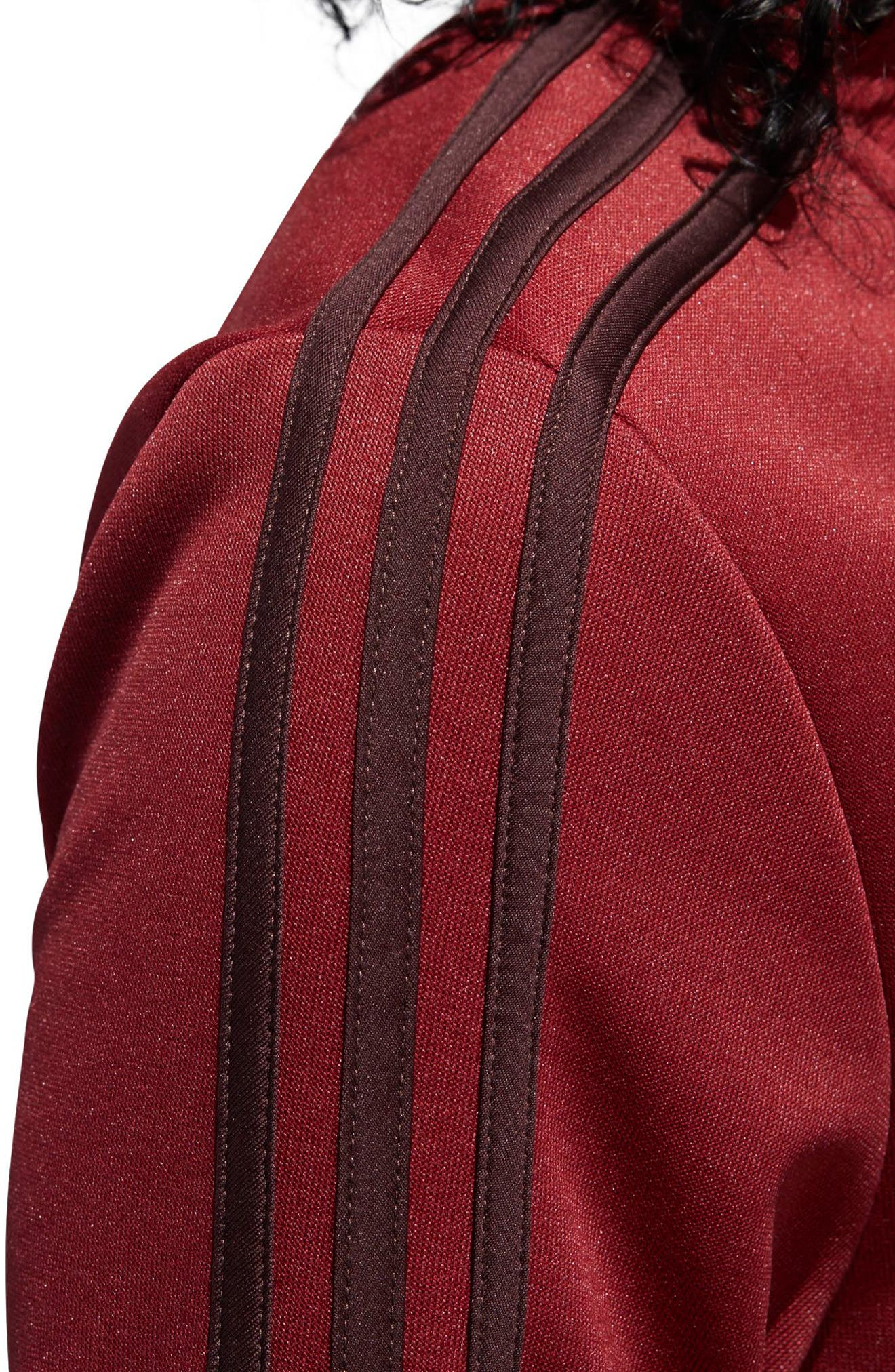 Snap Hem Track Jacket,                             Alternate thumbnail 6, color,                             NOBLE MAROON/ NIGHT RED