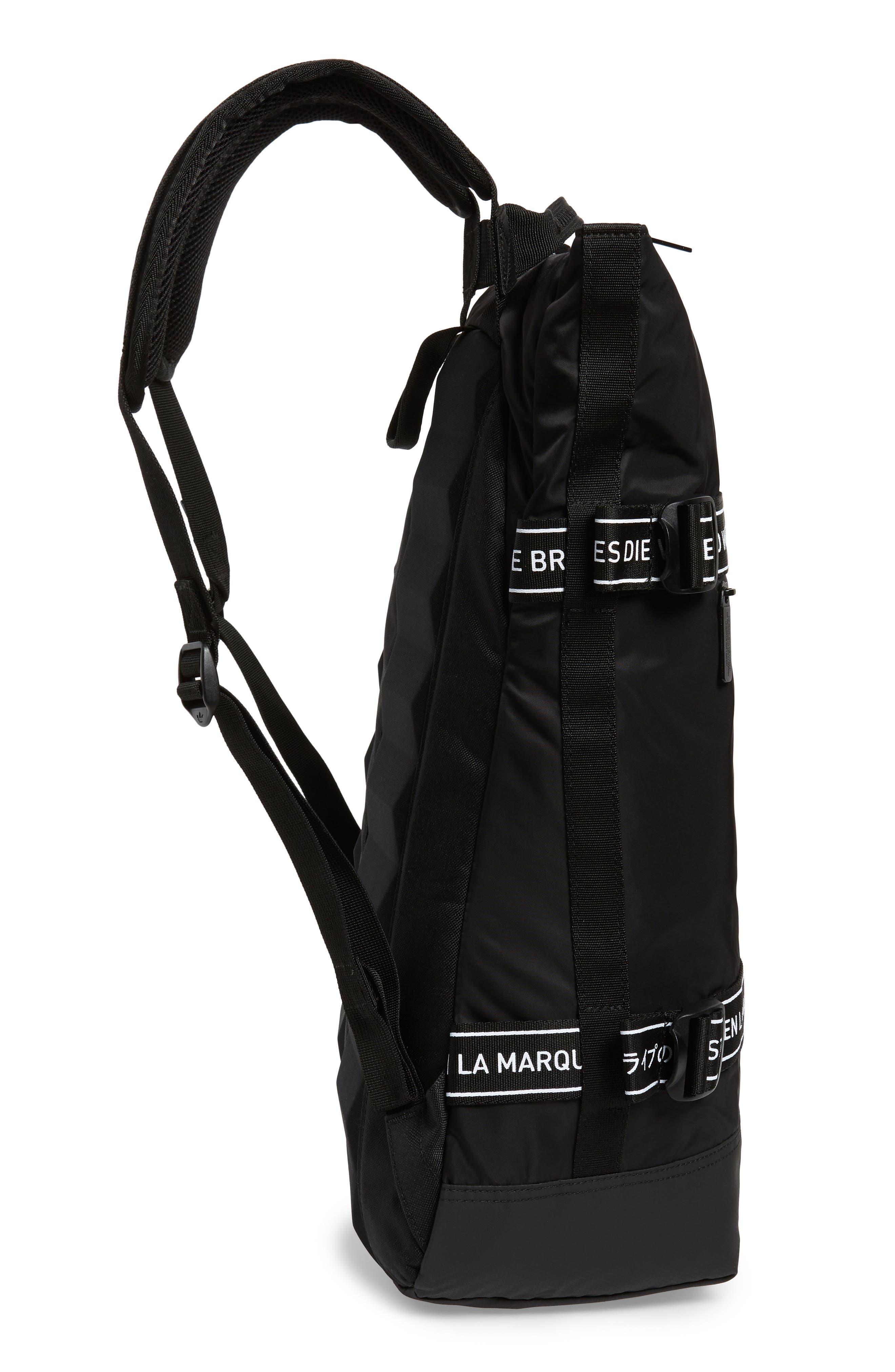 adidas NMD Backpack,                             Alternate thumbnail 5, color,                             BLACK