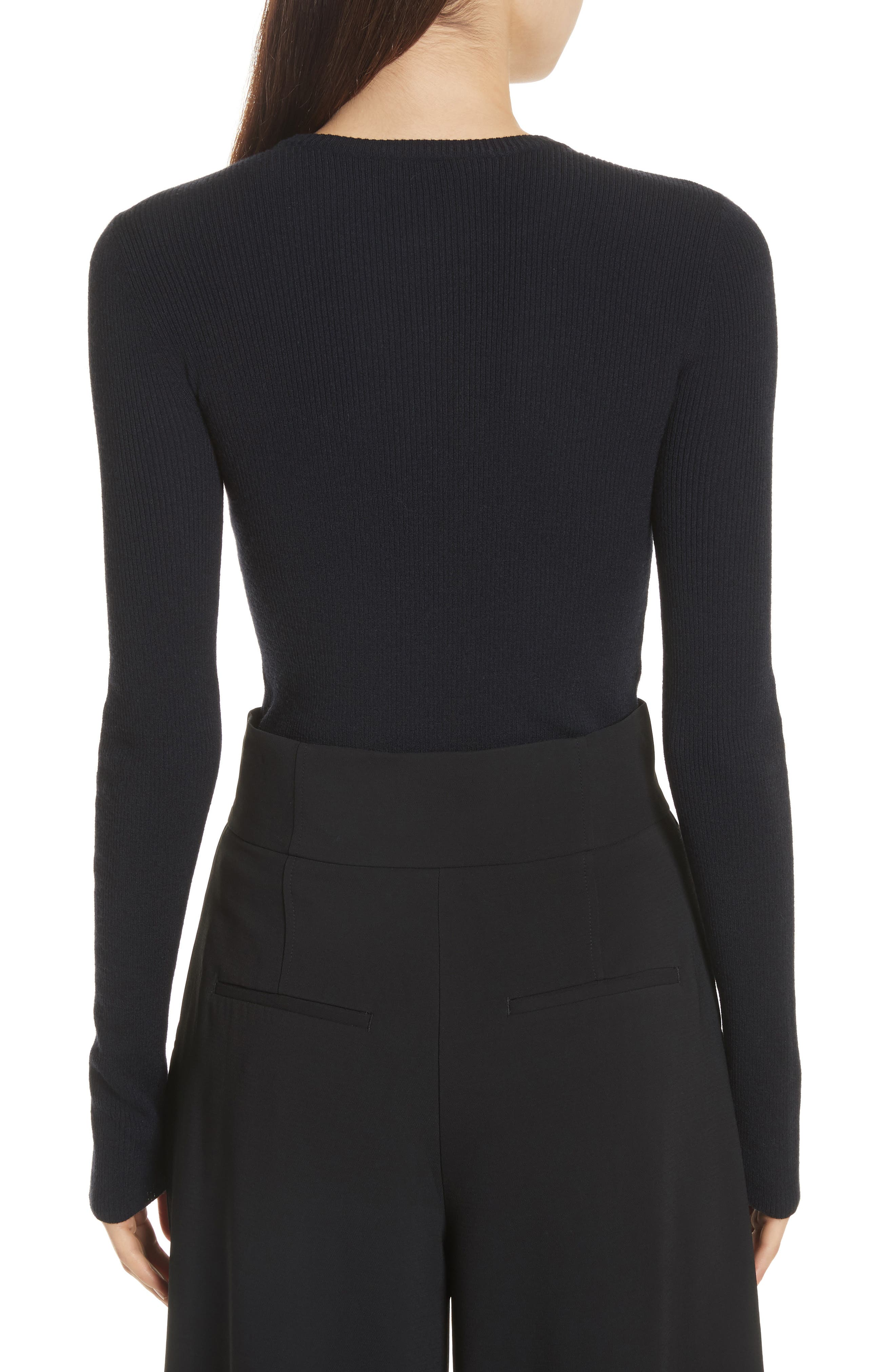 Nell Cutout Merino Wool Blend Sweater,                             Alternate thumbnail 2, color,                             401