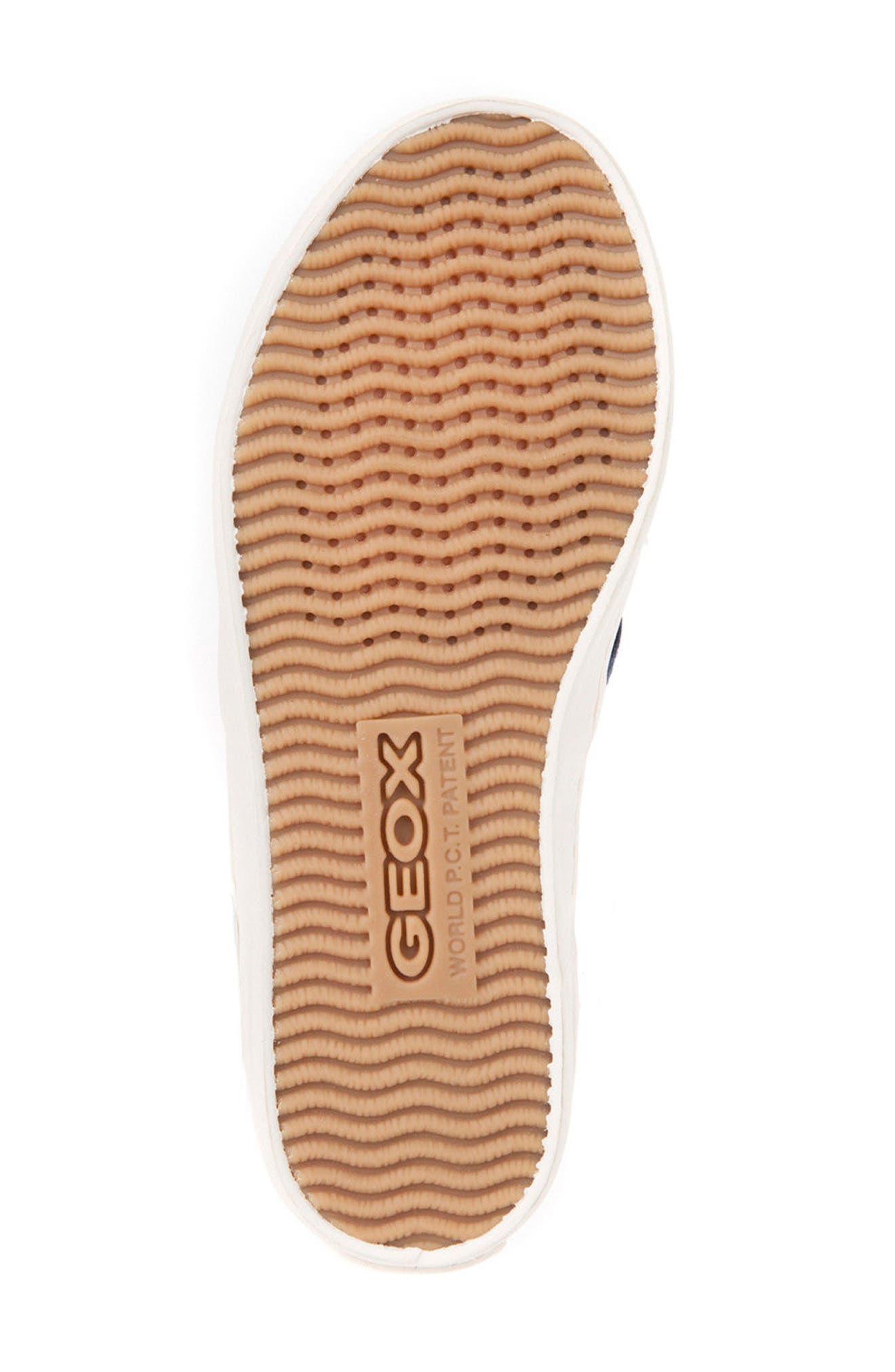 Jr Kiwi Slip-On Waterproof Sneaker,                             Alternate thumbnail 6, color,                             JEANS