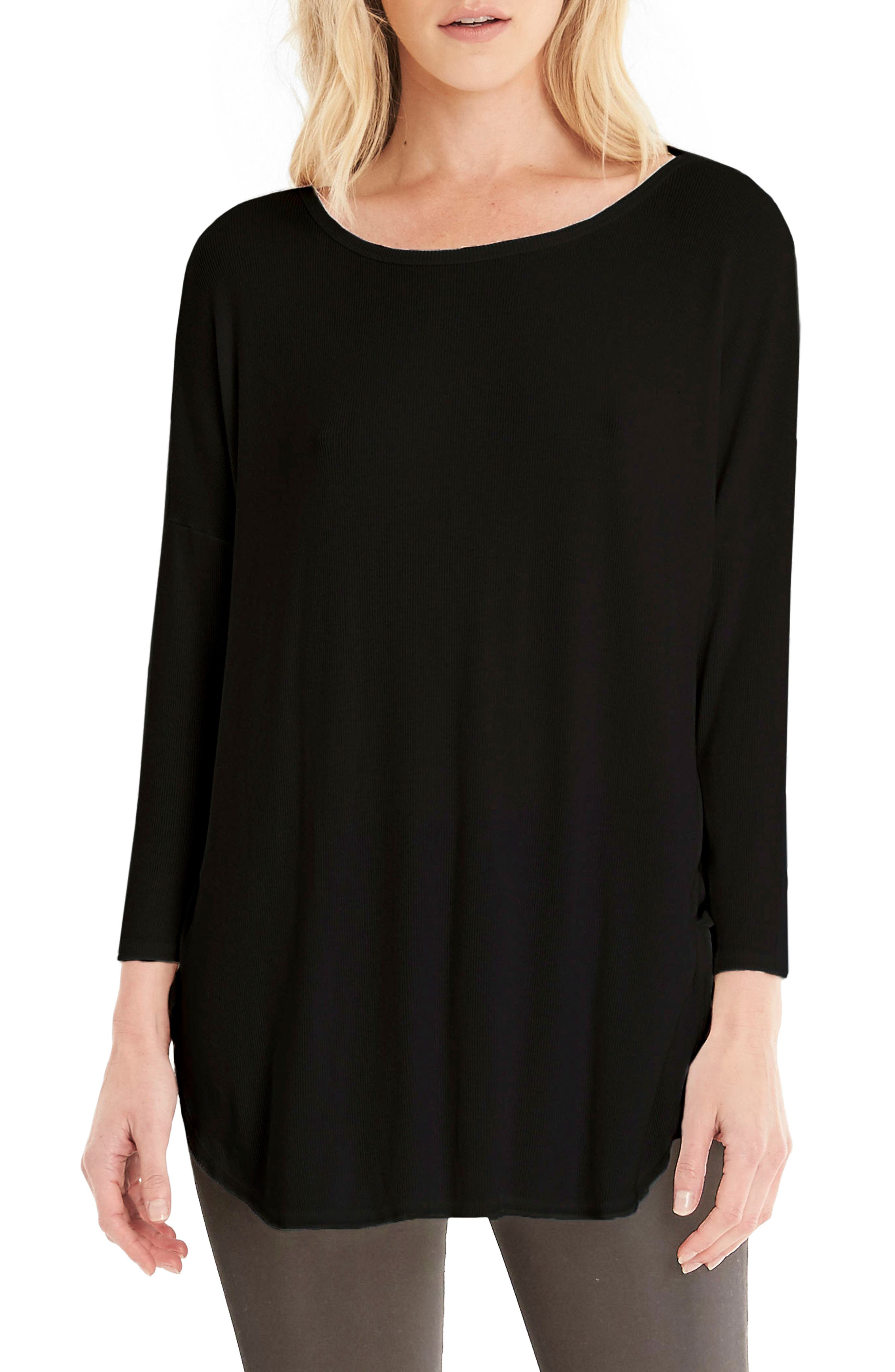 Stretch Knit Tee,                             Main thumbnail 1, color,