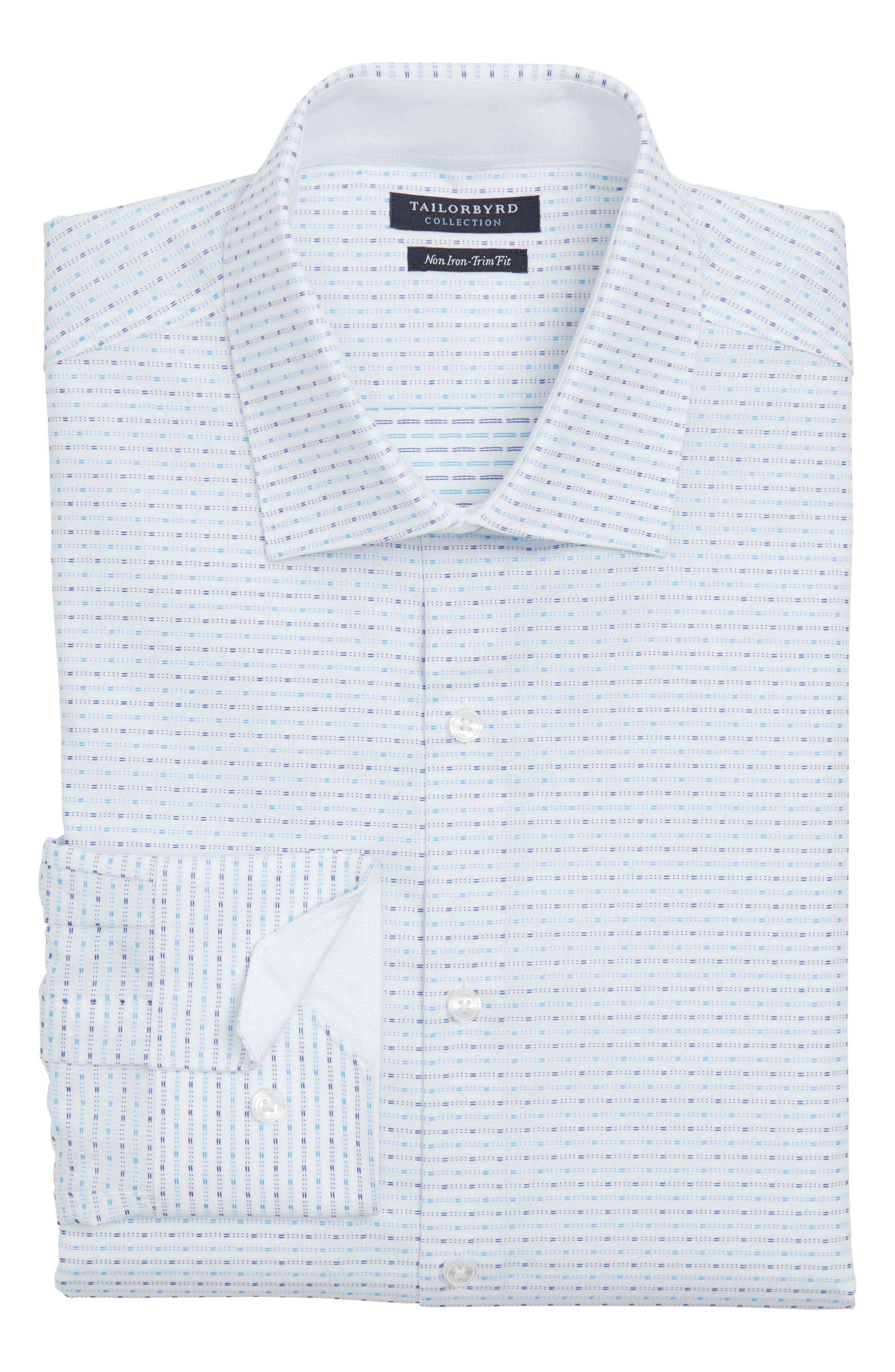 Trim Fit Non-Iron Dress Shirt,                             Main thumbnail 1, color,                             400