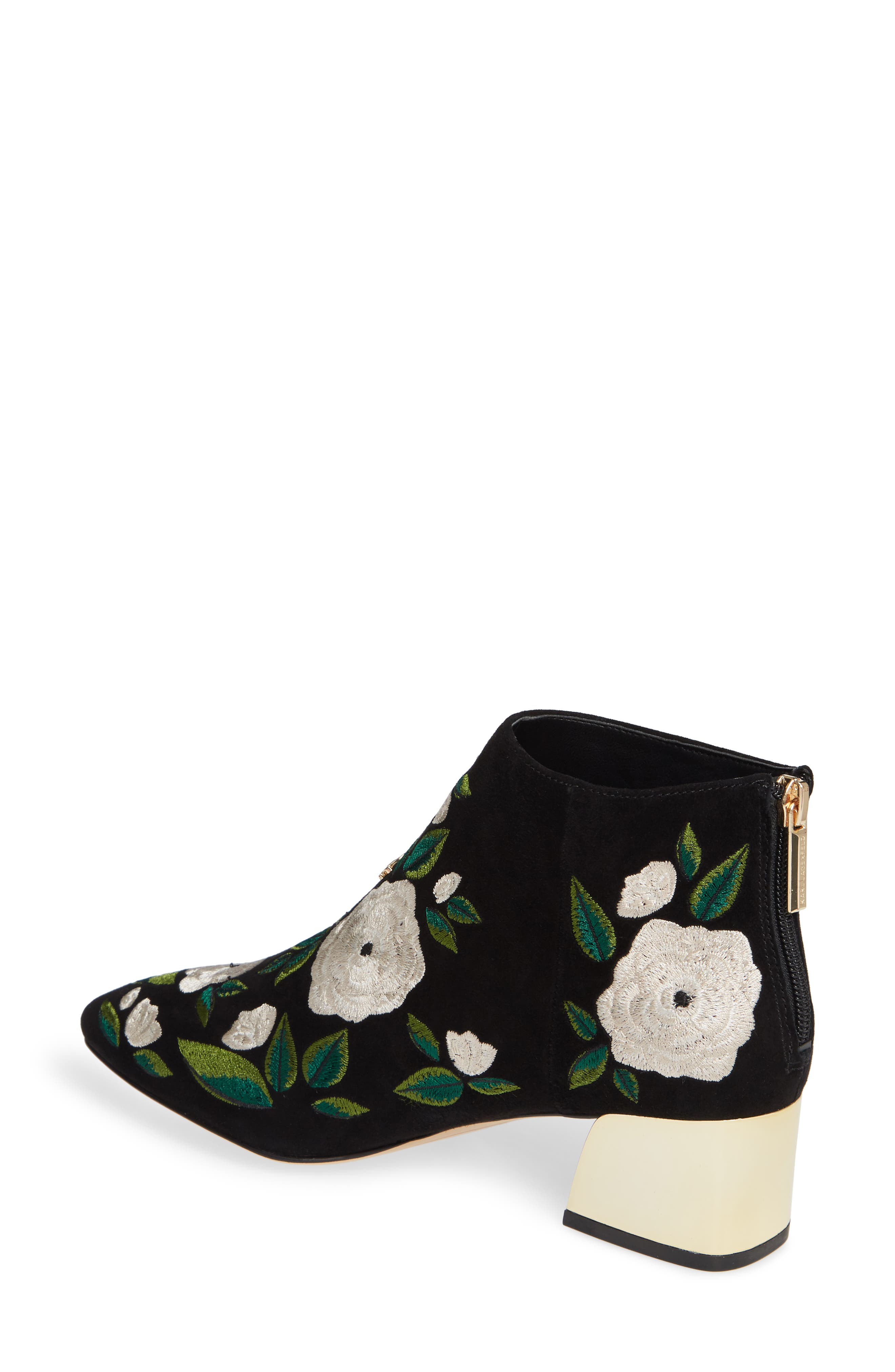 KARL LAGERFELD PARIS,                             Harlow Bootie,                             Alternate thumbnail 2, color,                             002