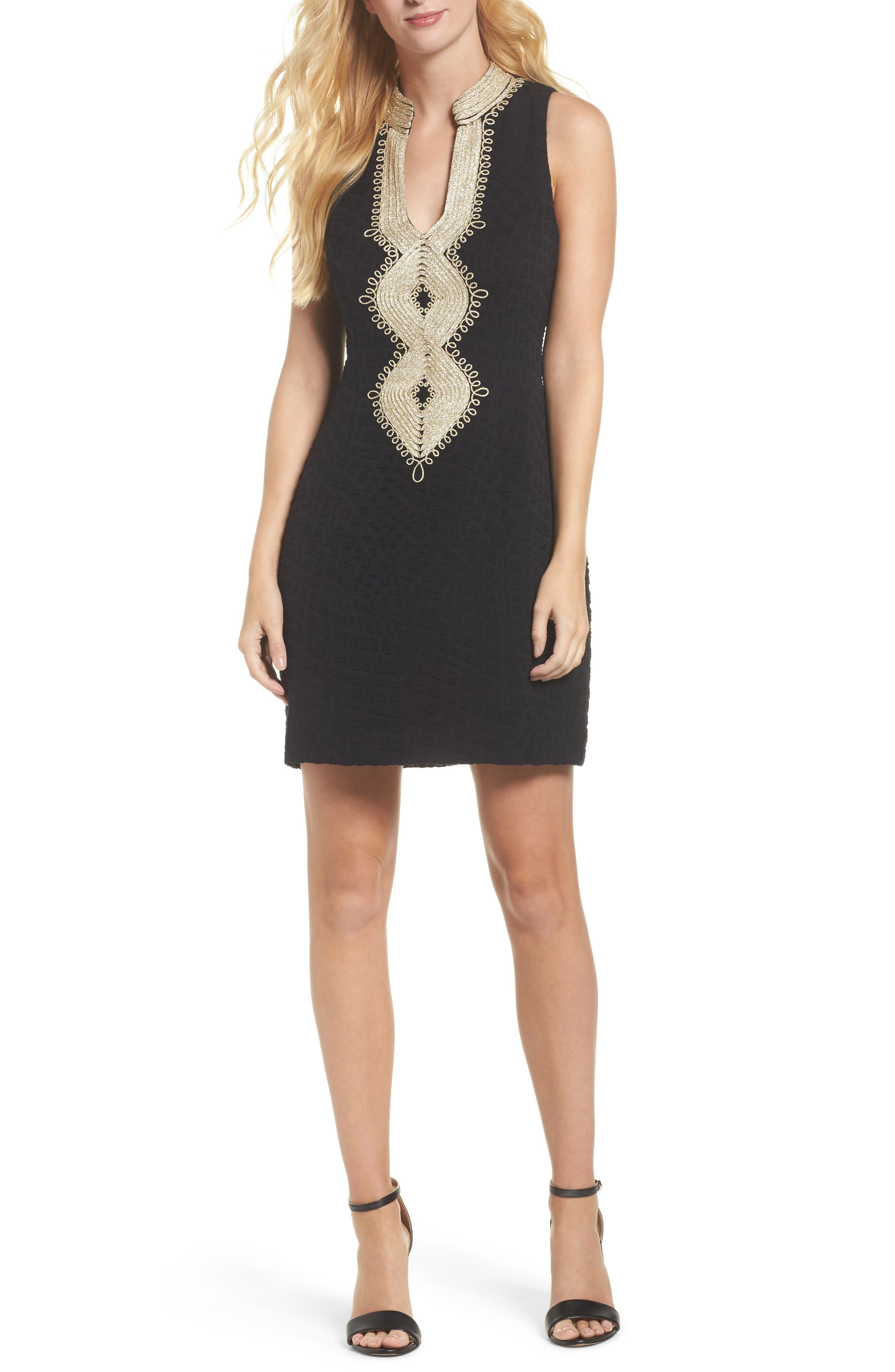 Alexa Sheath Dress,                             Main thumbnail 1, color,                             ONYX