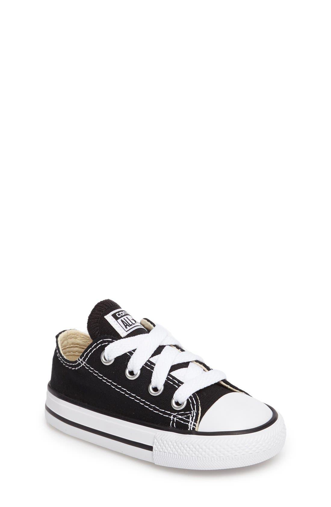 CONVERSE,                             Chuck Taylor<sup>®</sup> Low Top Sneaker,                             Main thumbnail 1, color,                             BLACK