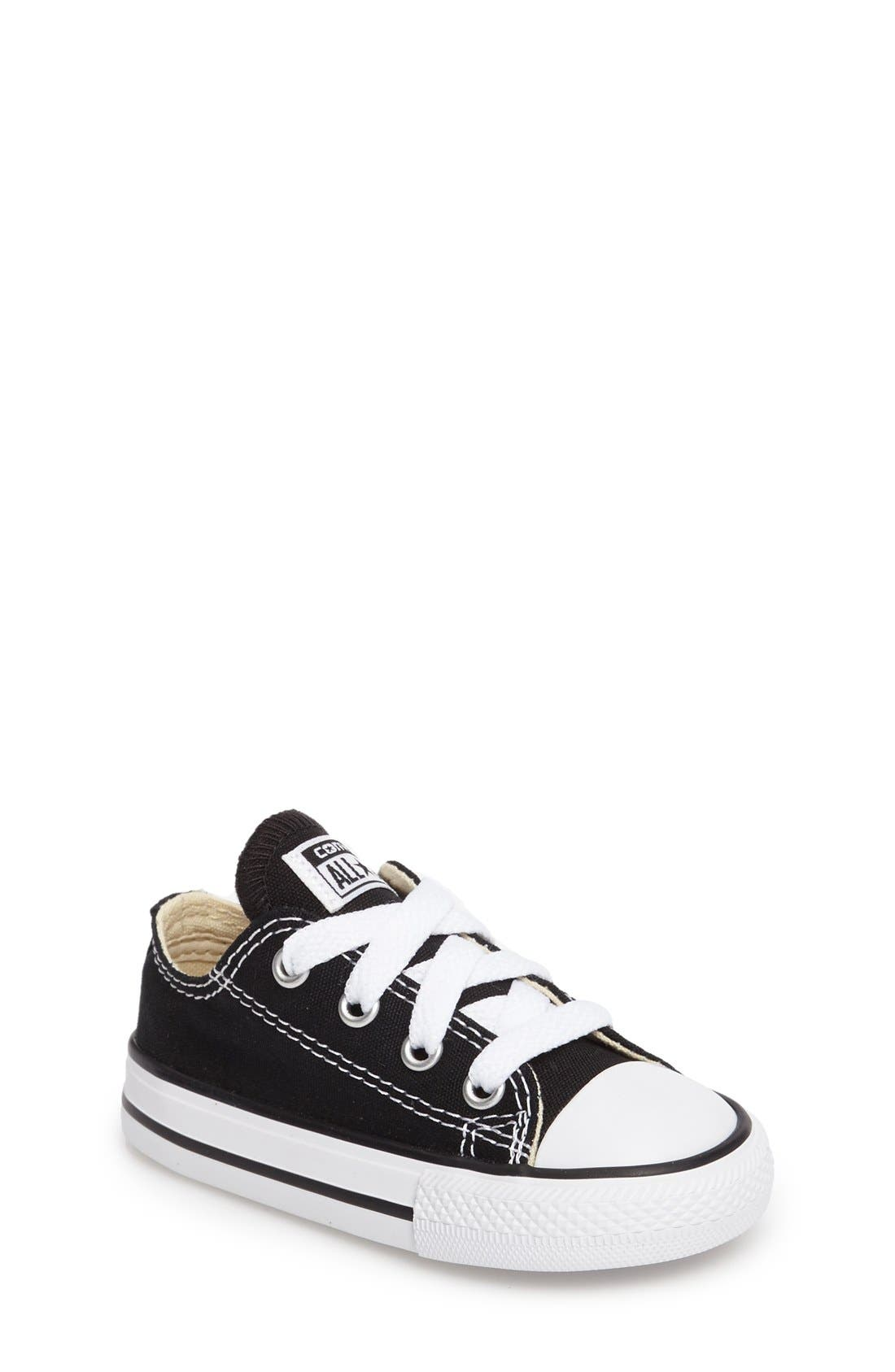 CONVERSE Chuck Taylor<sup>®</sup> Low Top Sneaker, Main, color, BLACK