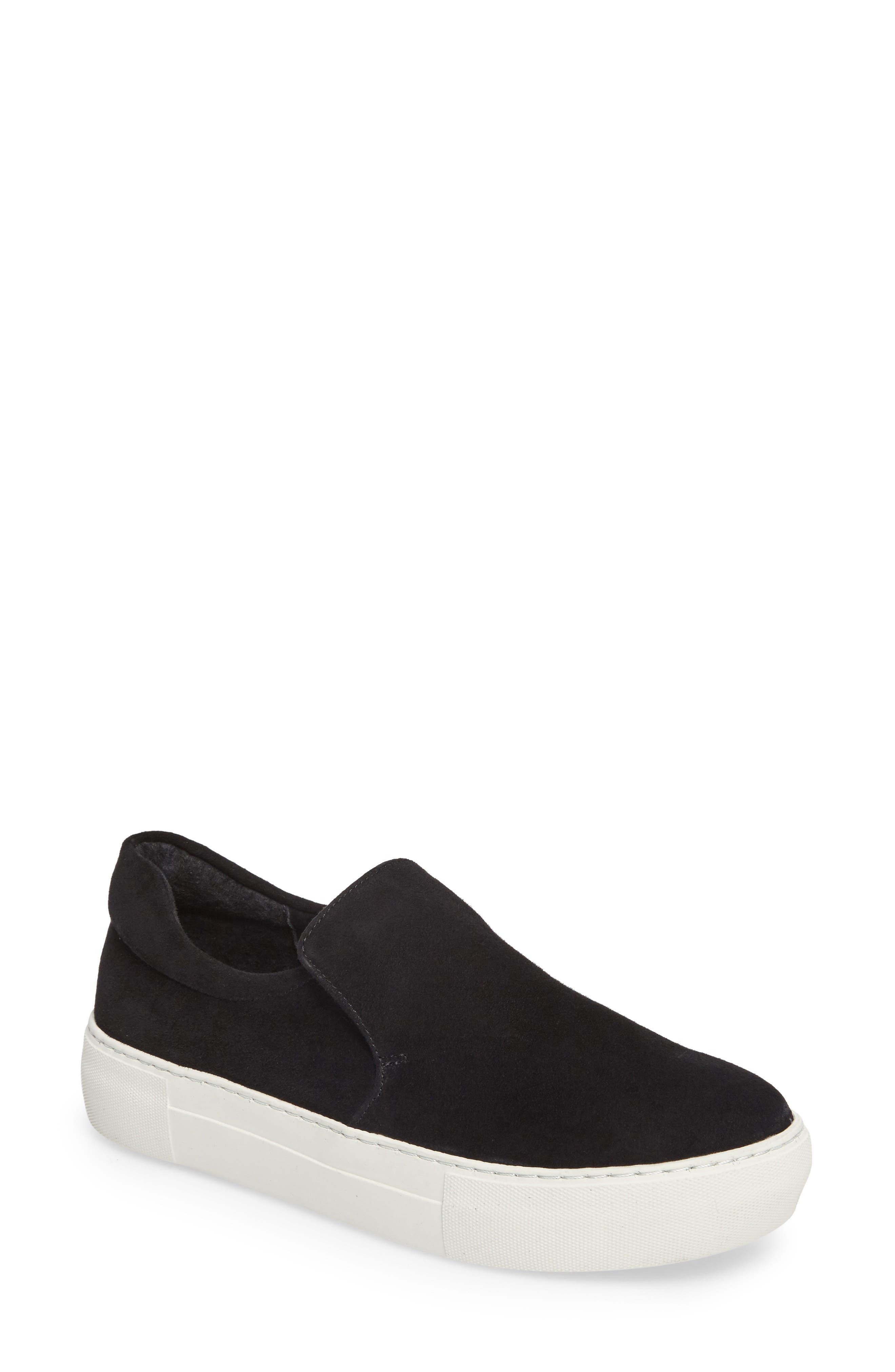 Acer Slip-On Sneaker,                             Main thumbnail 1, color,                             BLACK SUEDE