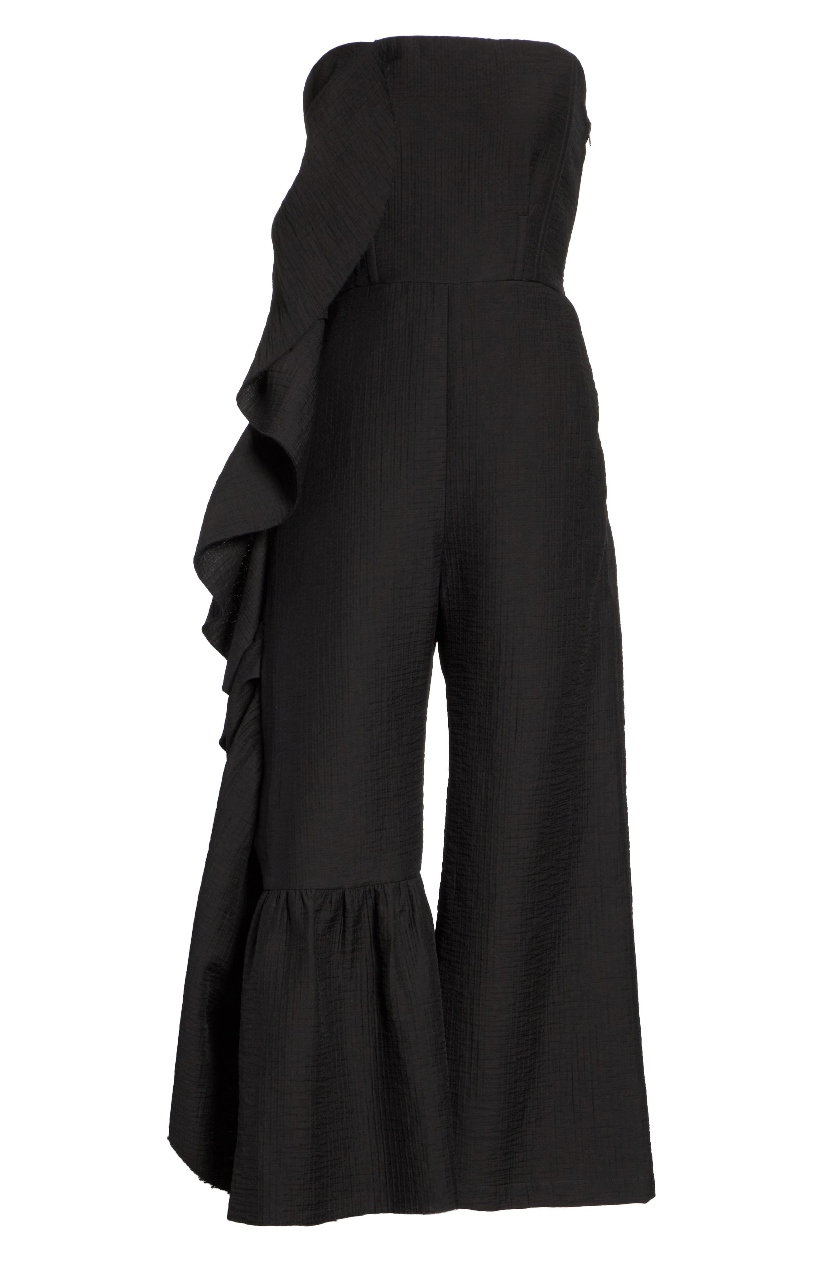 Revel Strapless Jumpsuit,                             Alternate thumbnail 6, color,                             001