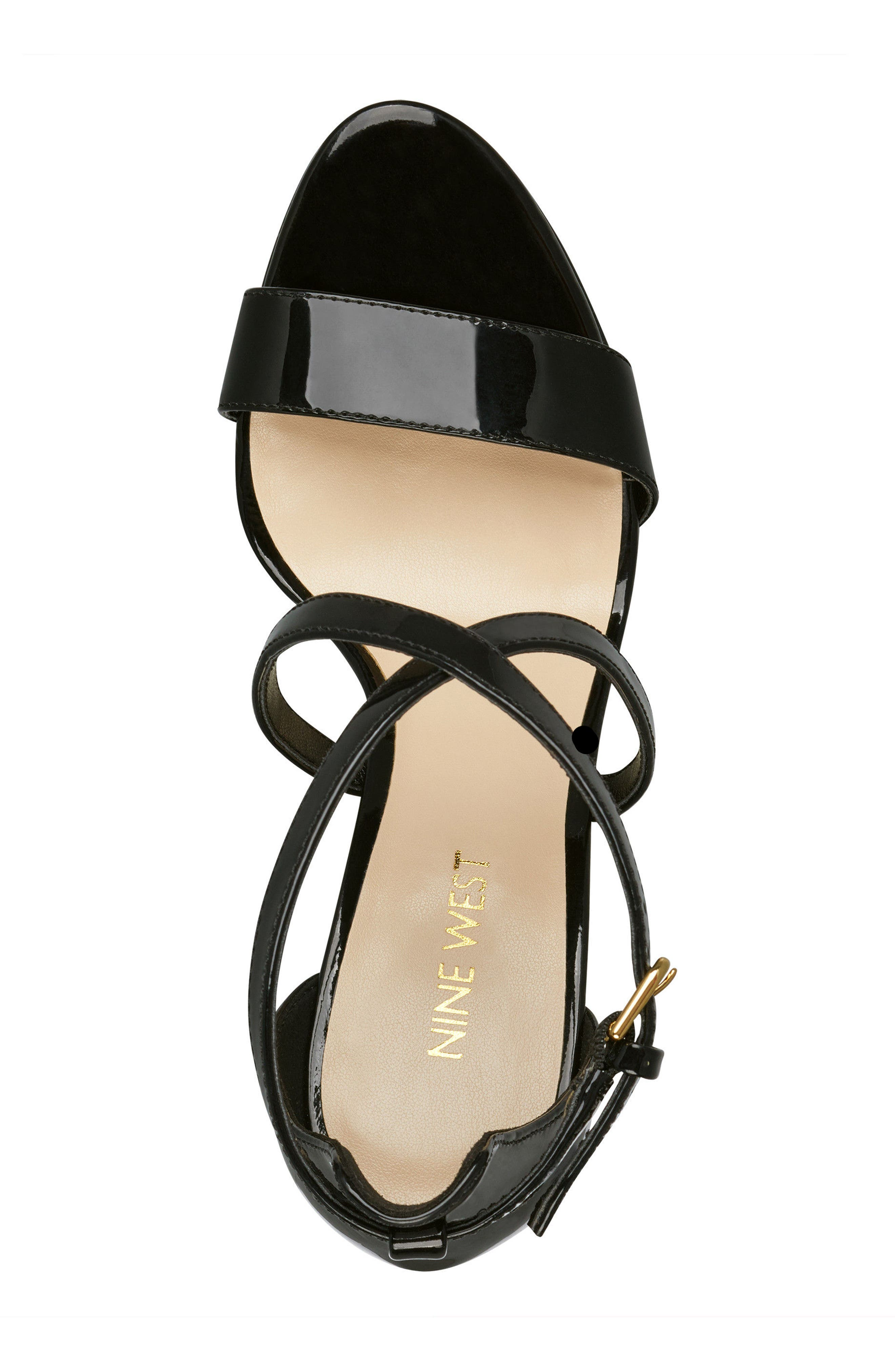 Mydebut Strappy Sandal,                             Alternate thumbnail 5, color,                             BLACK FAUX LEATHER