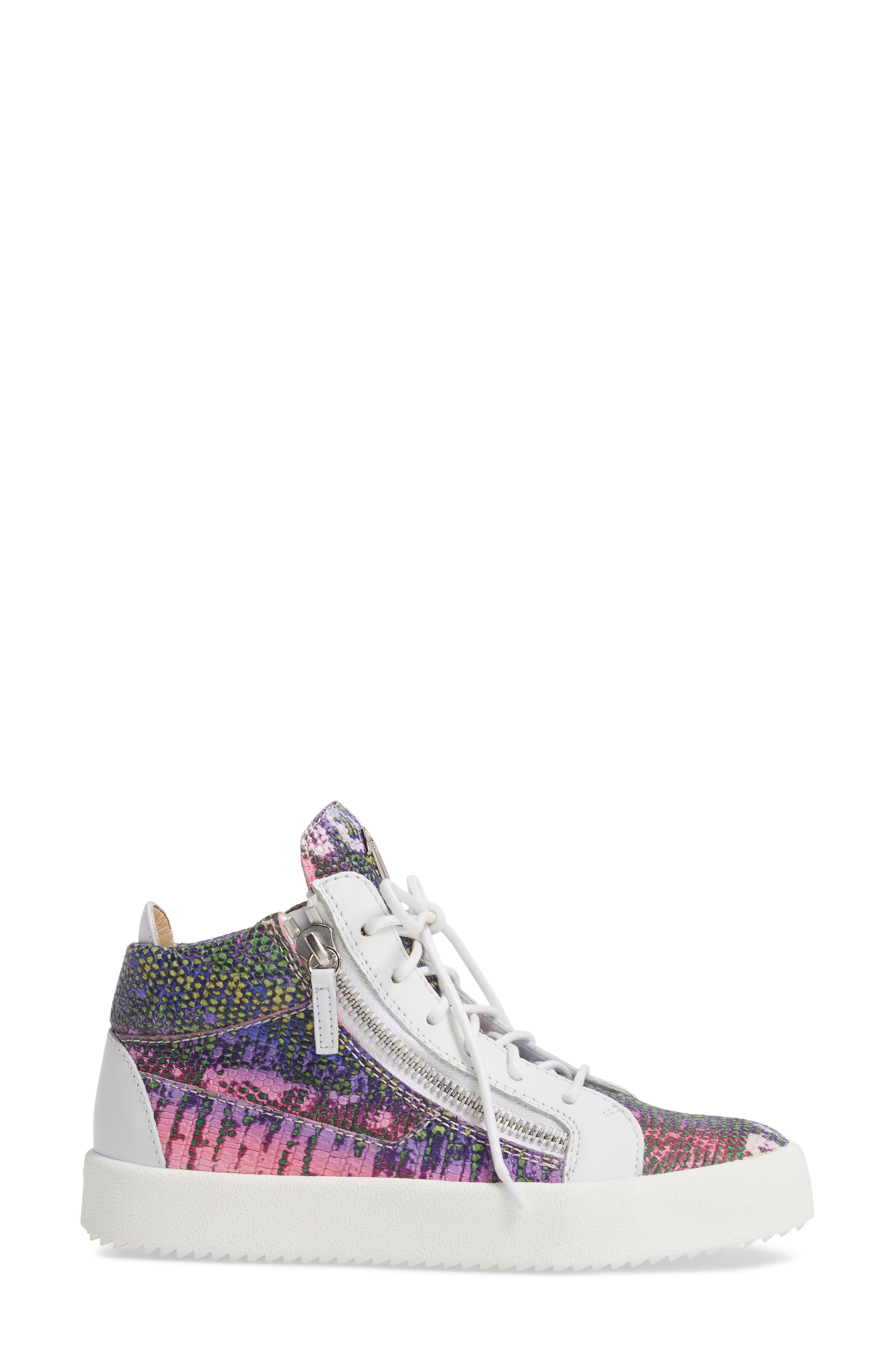 May London Mid Top Sneaker,                             Alternate thumbnail 3, color,                             PINK MULTI