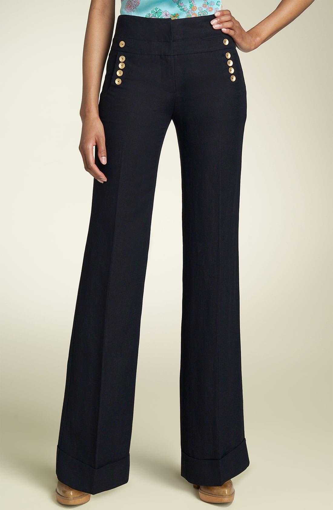 LEIFSDOTTIR 'Pebble' Wide Leg Pants, Main, color, 409
