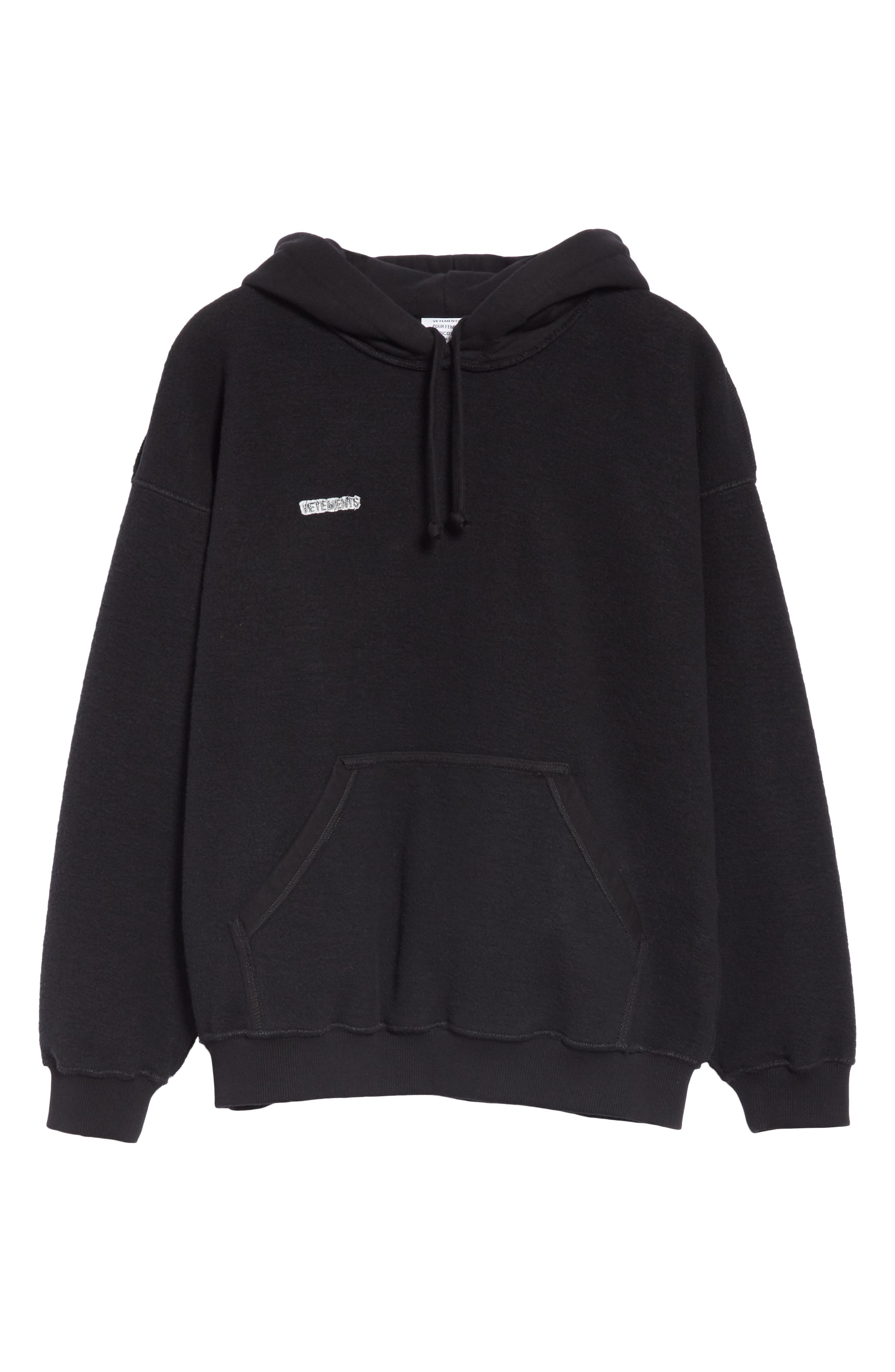 Inside-Out Hoodie,                             Alternate thumbnail 6, color,                             BLACK