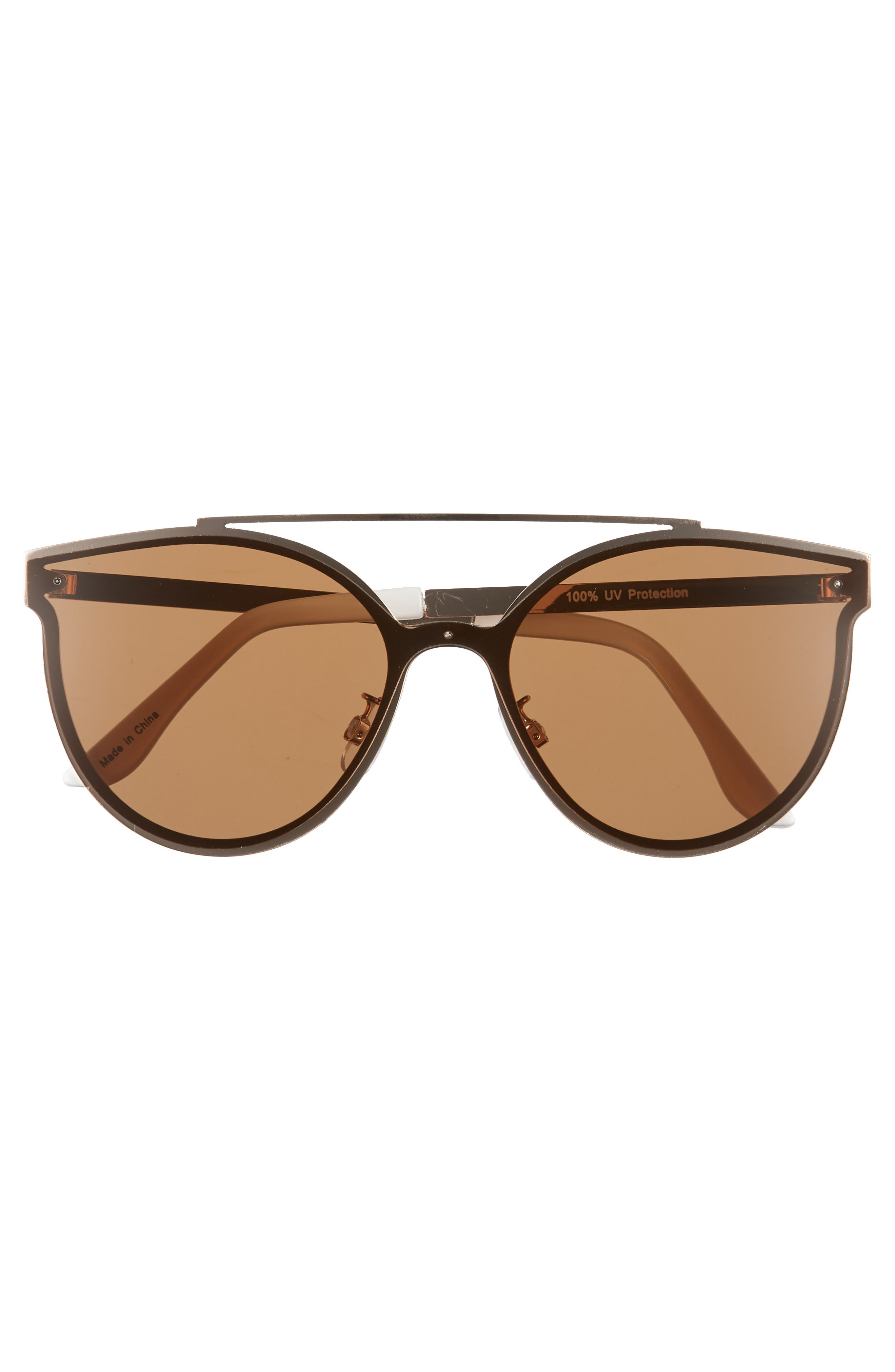 58mm Brow Bar Sunglasses,                             Alternate thumbnail 3, color,                             GOLD