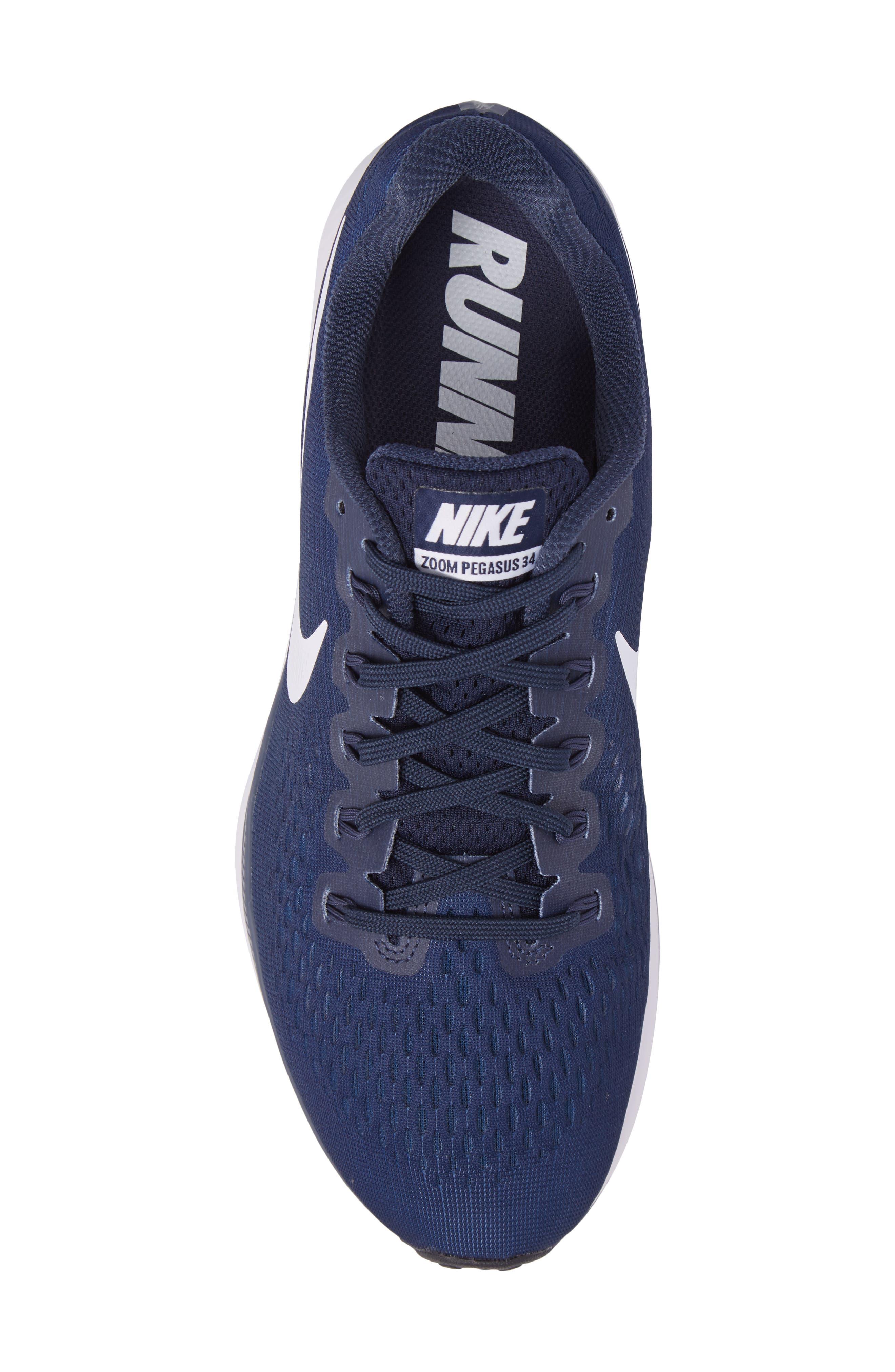Air Zoom Pegasus 34 Sneaker,                             Alternate thumbnail 5, color,                             002
