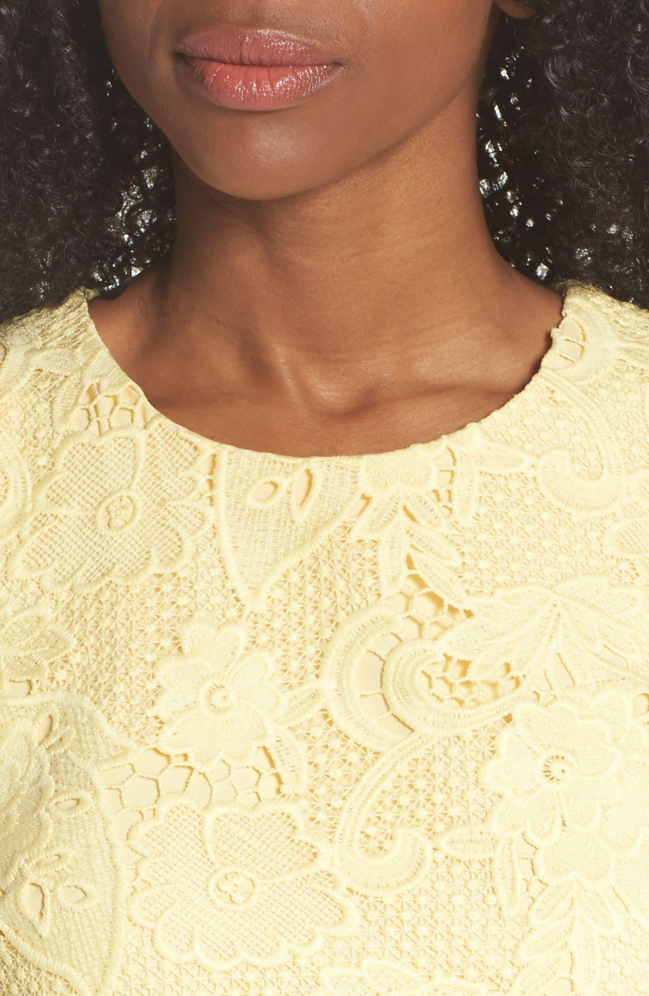 Lace Sheath Dress,                             Alternate thumbnail 4, color,                             720
