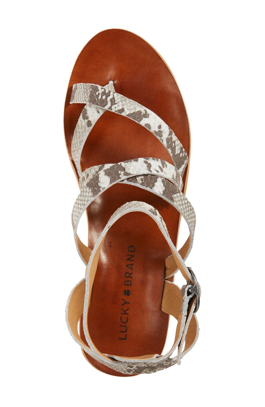 'Honeyy' Platform Sandal,                             Alternate thumbnail 4, color,                             020