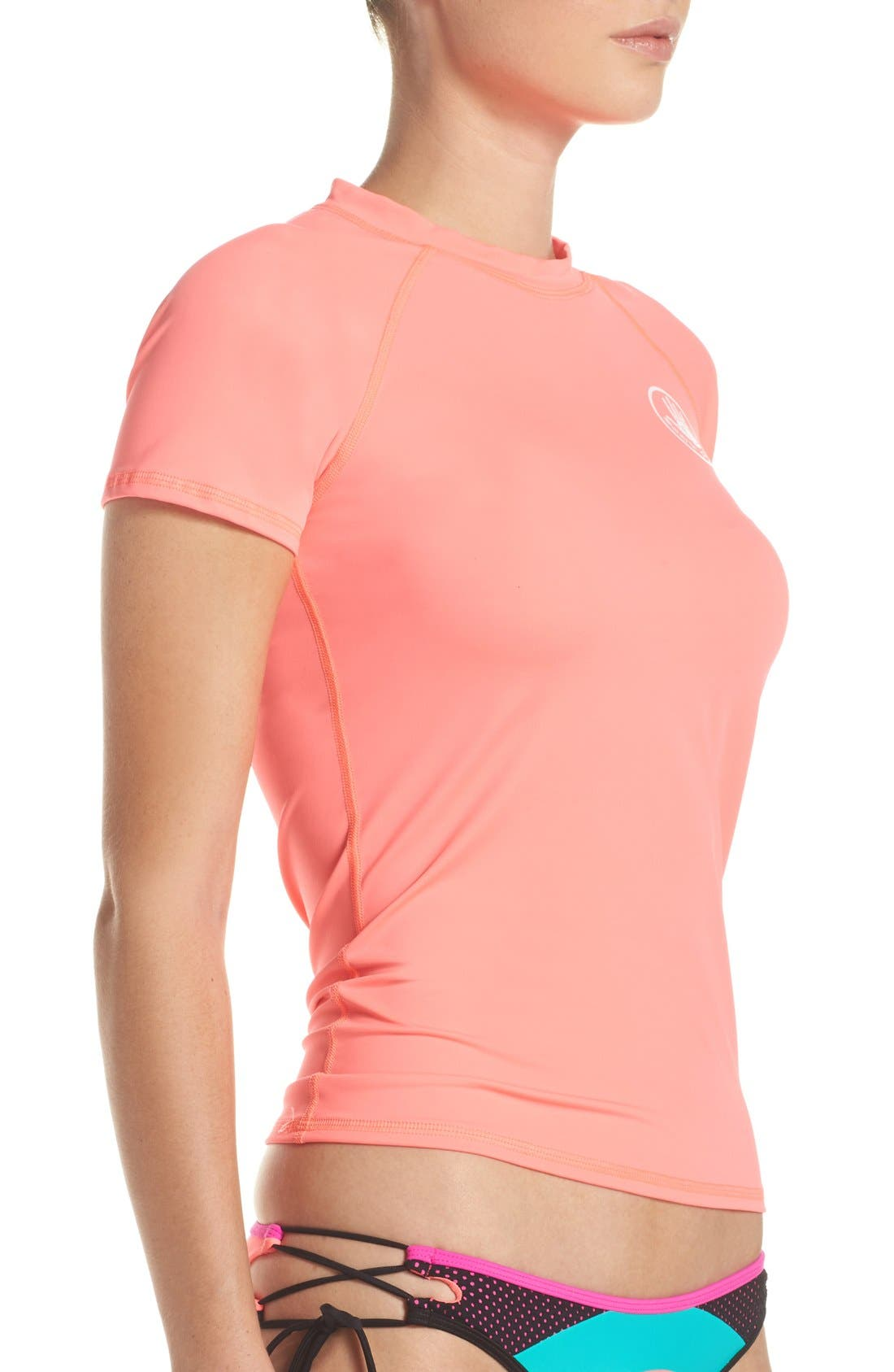 'Smoothies in Motion' Short Sleeve Rashguard,                             Alternate thumbnail 37, color,