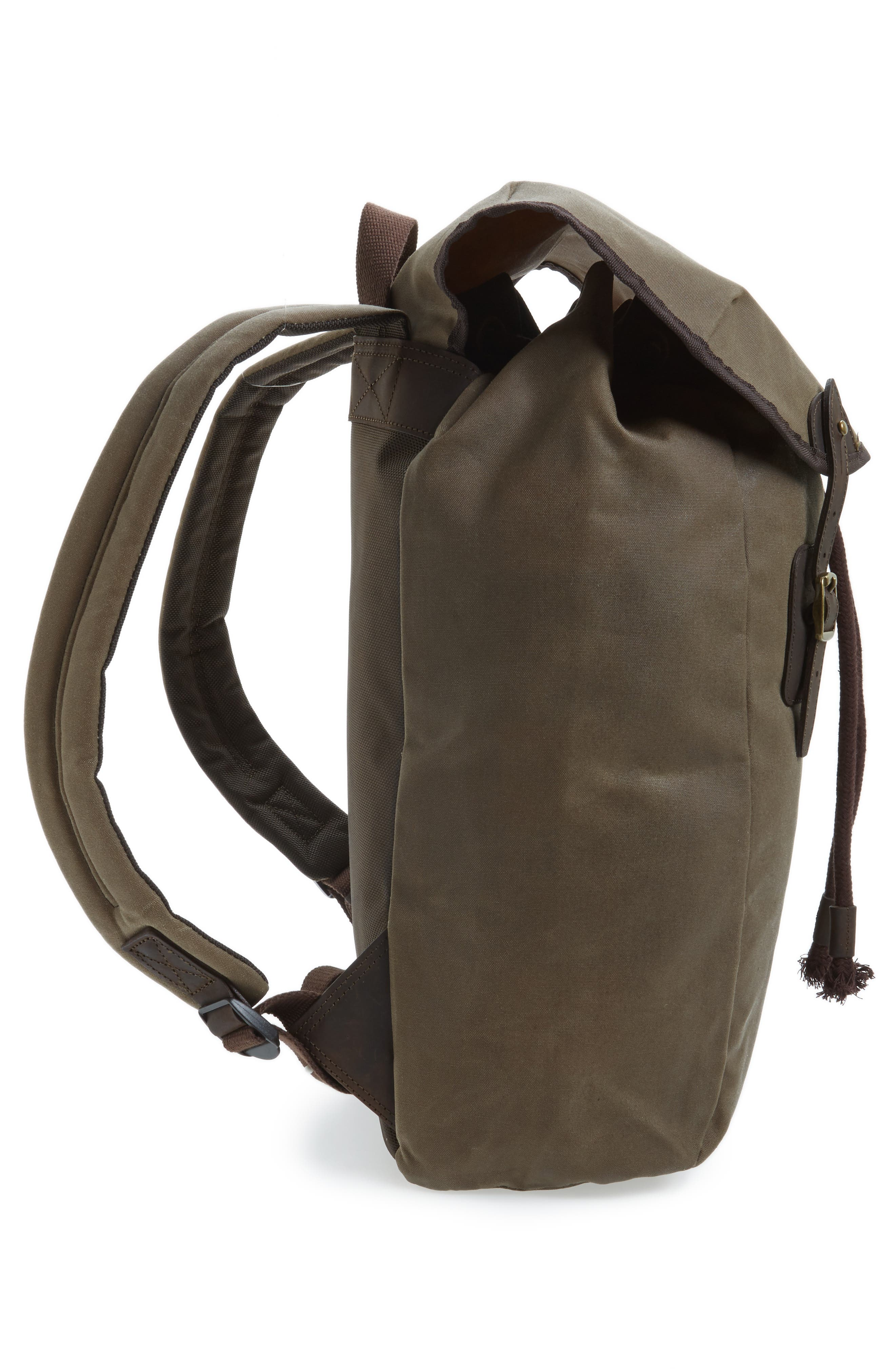Waxed Canvas Backpack,                             Alternate thumbnail 5, color,                             220