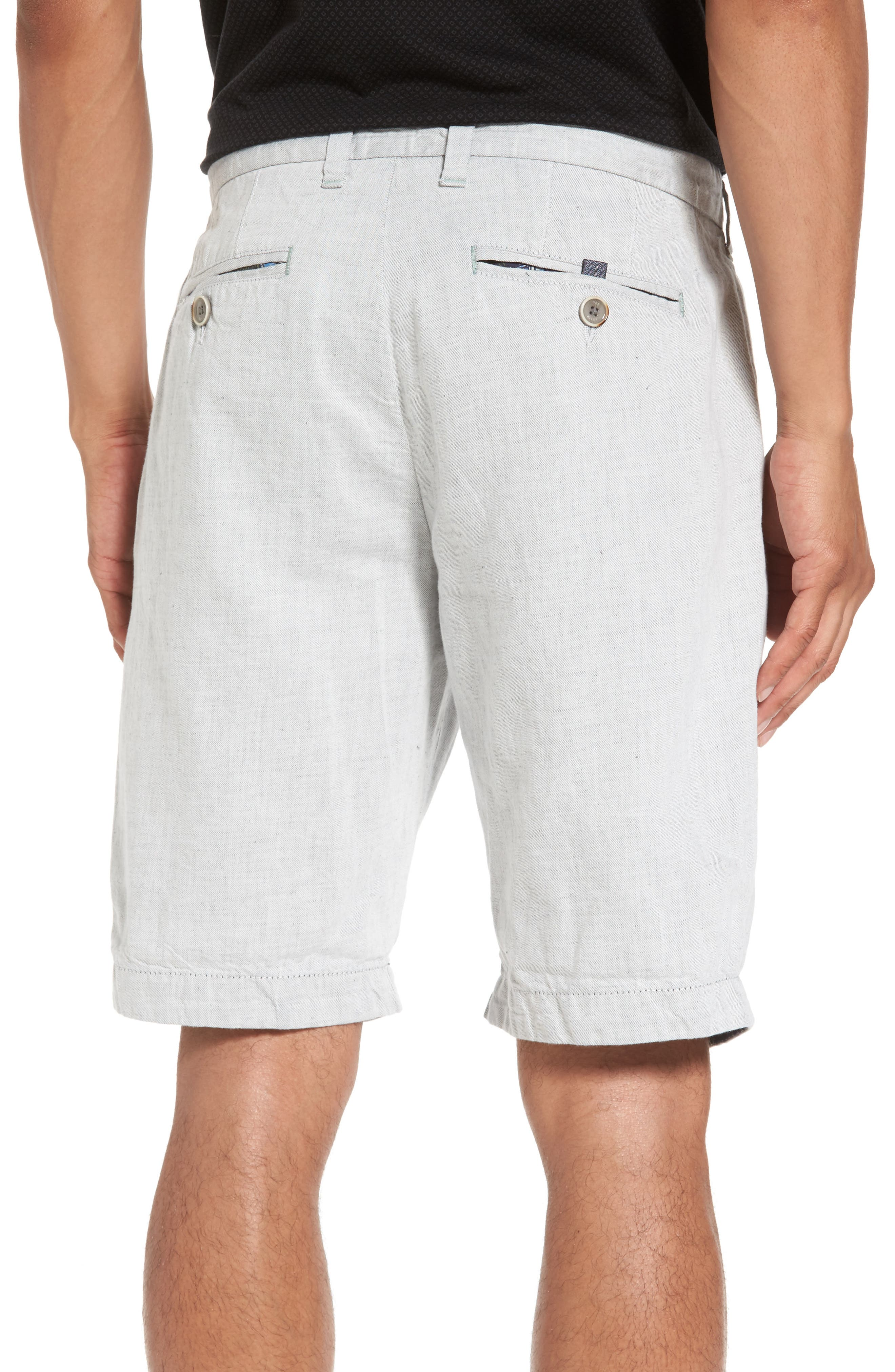 Frisho Cuff Denim Shorts,                             Alternate thumbnail 3, color,