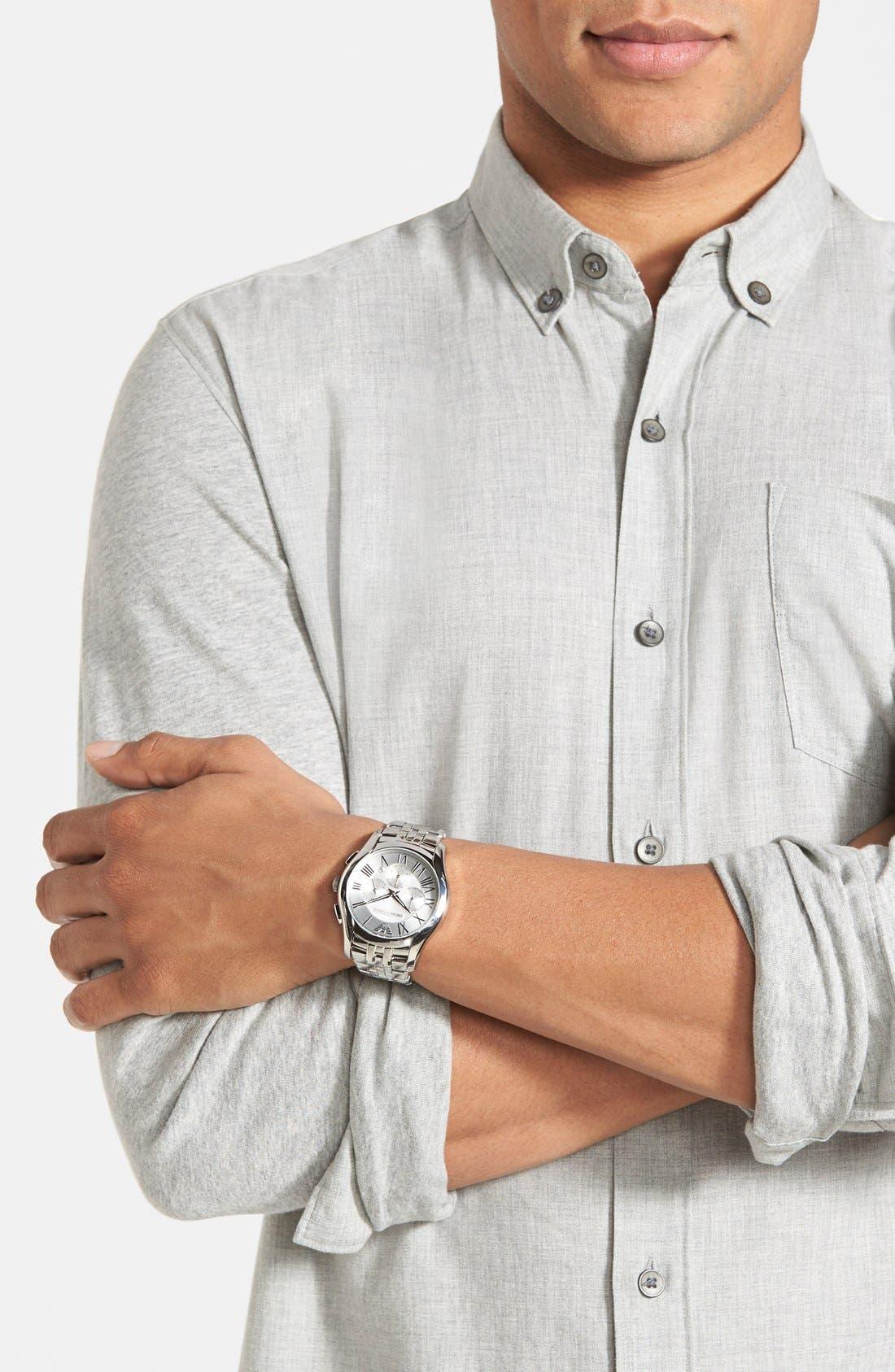 Stainless Steel Bracelet Watch, 43mm,                             Alternate thumbnail 10, color,