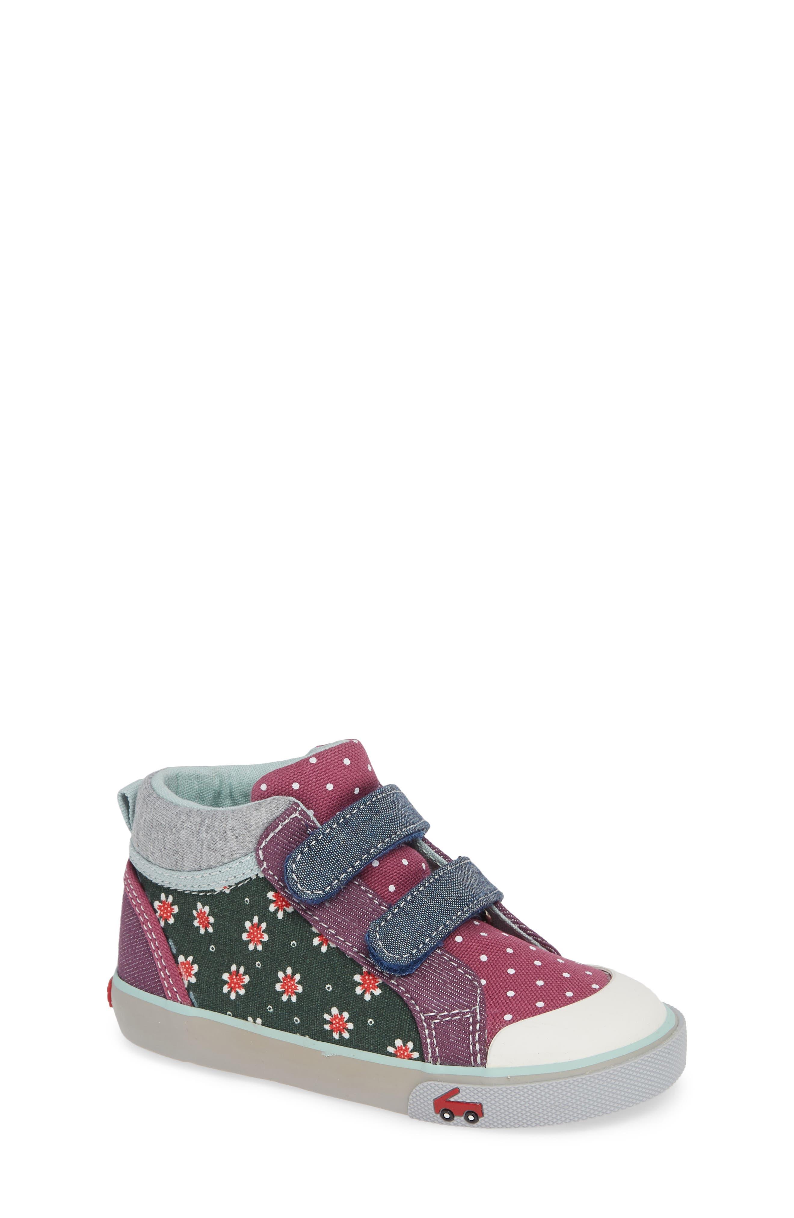 Kya Sneaker,                         Main,                         color, GREEN FLORAL/MULTI
