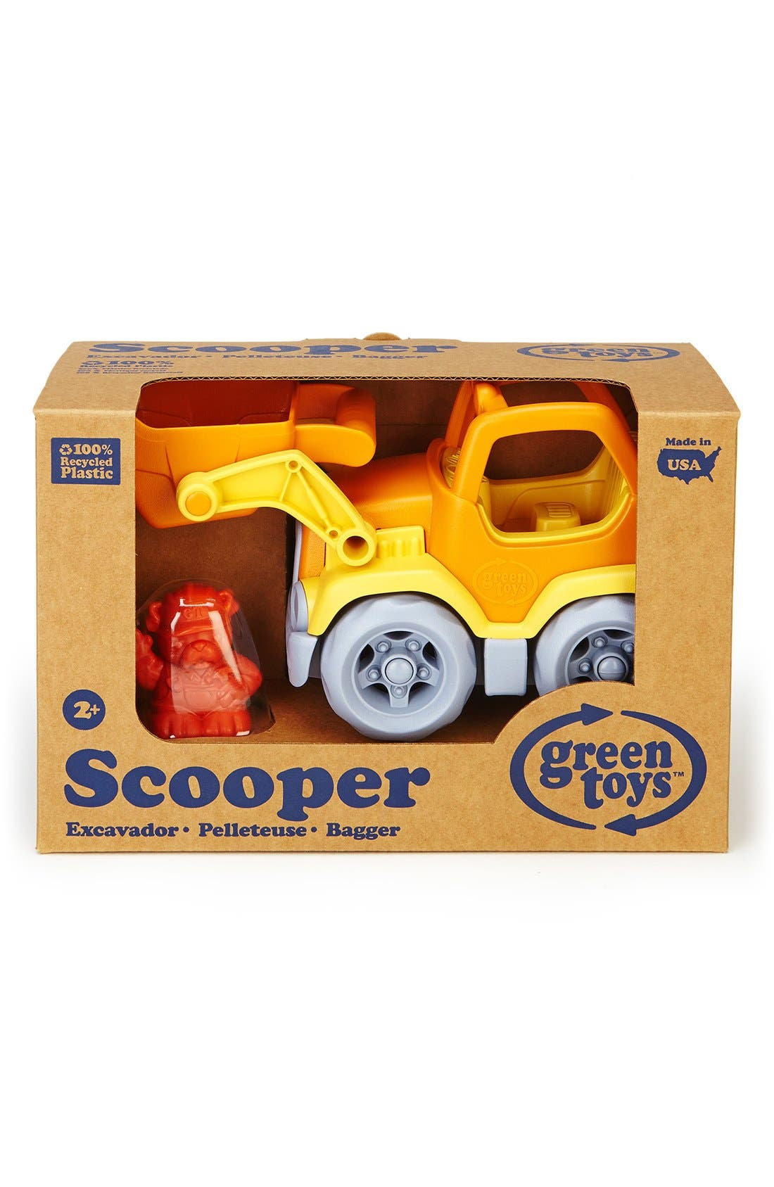 'Scooper' Toy Construction Truck, Main, color, 800