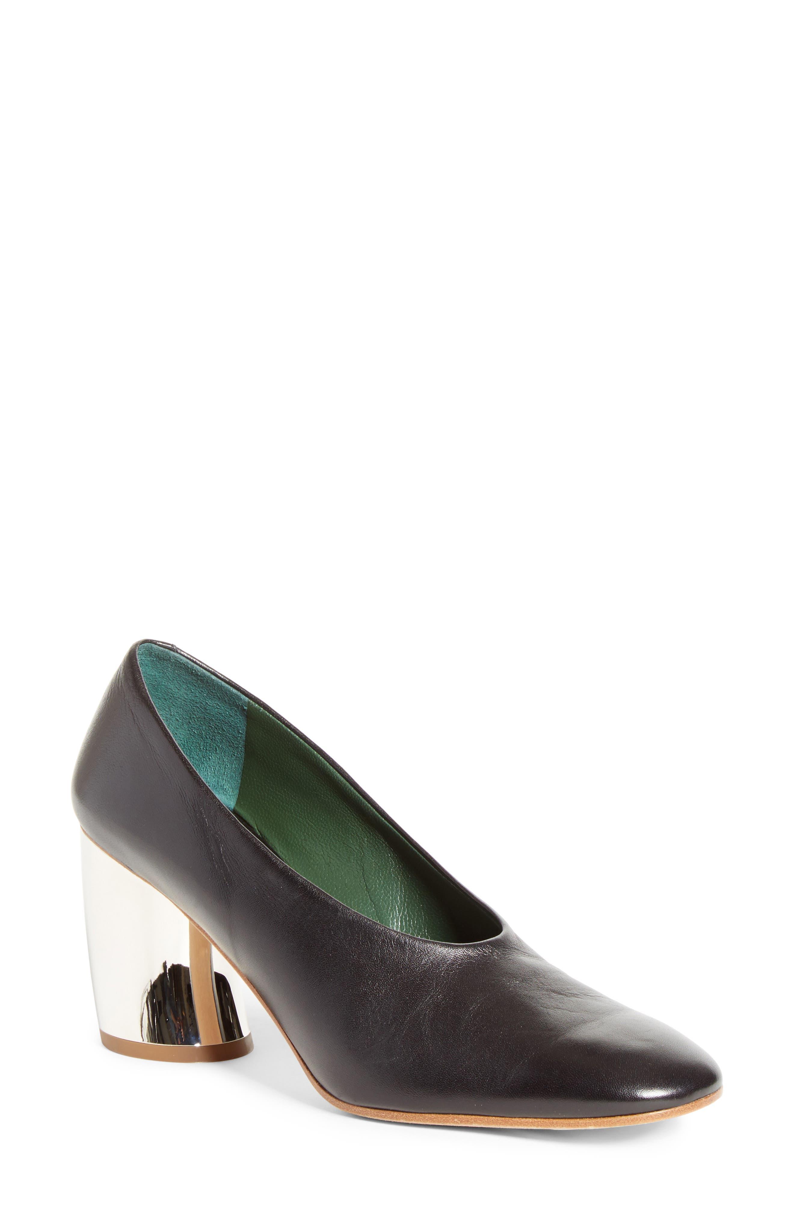 Mirrored Heel Pump,                             Main thumbnail 1, color,                             001