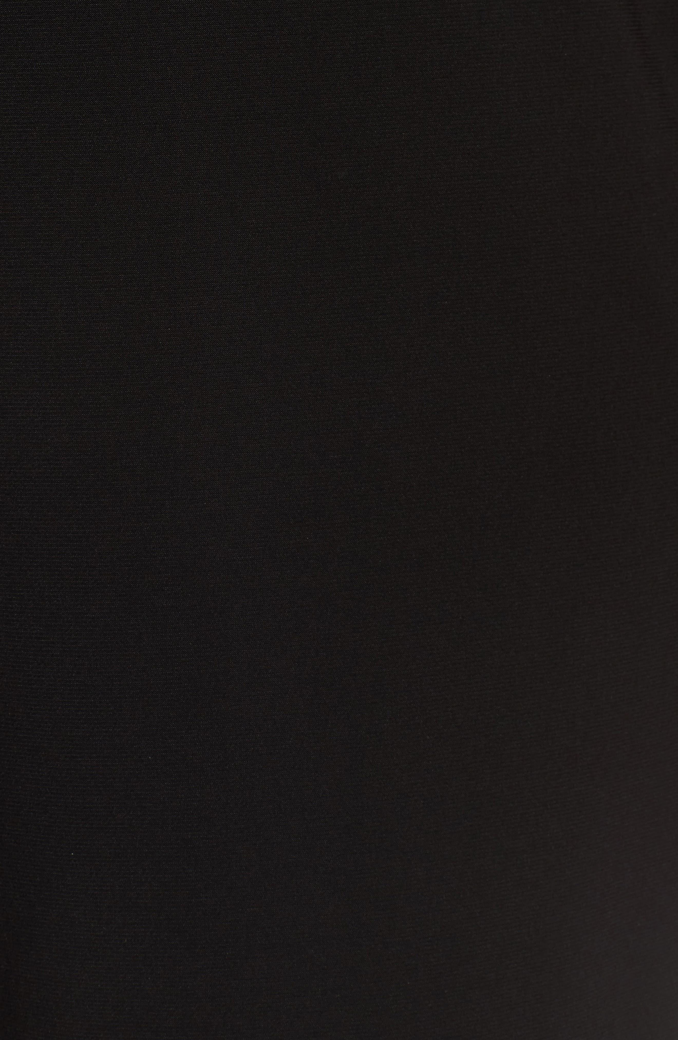 Chain Neck Cold Shoulder Jumpsuit,                             Alternate thumbnail 6, color,                             BLACK