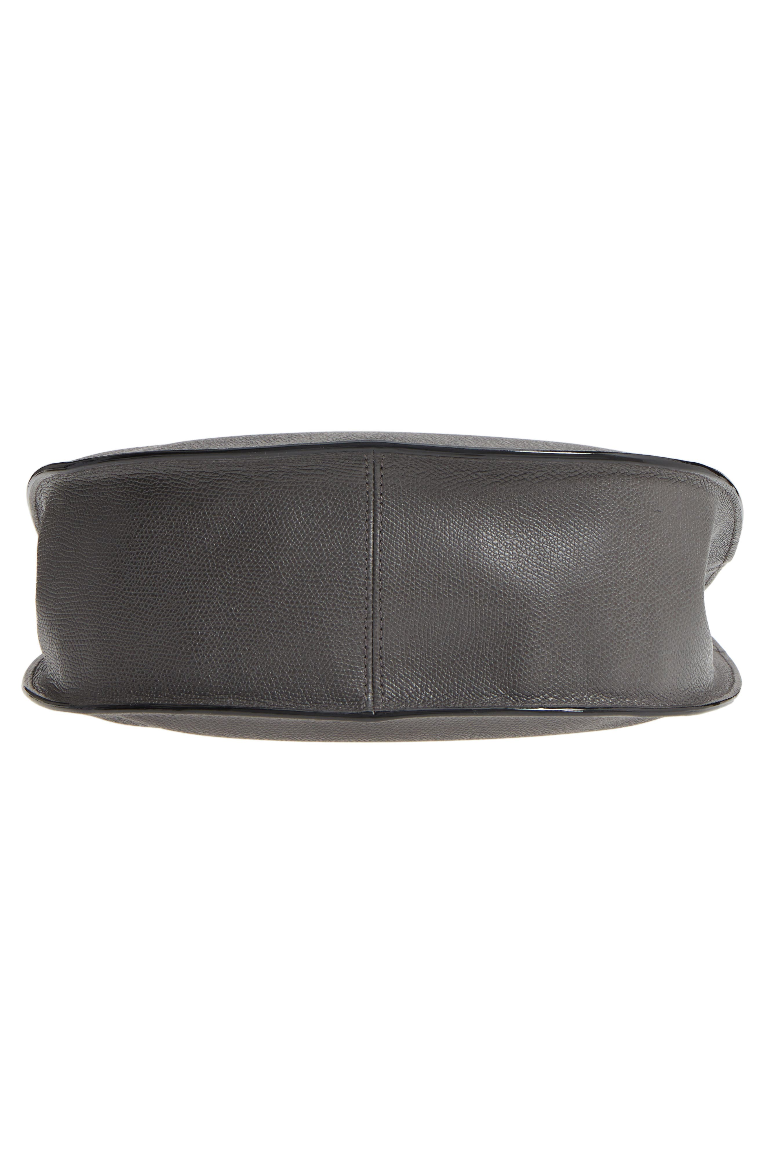 Weekend Medium Leather Hobo,                             Alternate thumbnail 6, color,                             FUMO DI LONDRA