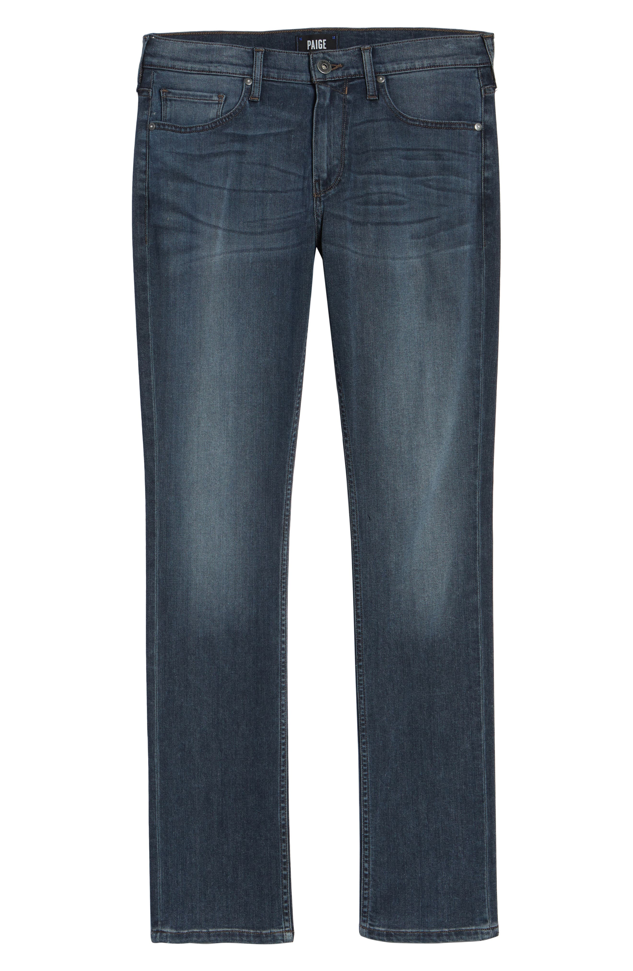 PAIGE,                             Transcend - Federal Slim Straight Leg Jeans,                             Alternate thumbnail 6, color,                             GARNER