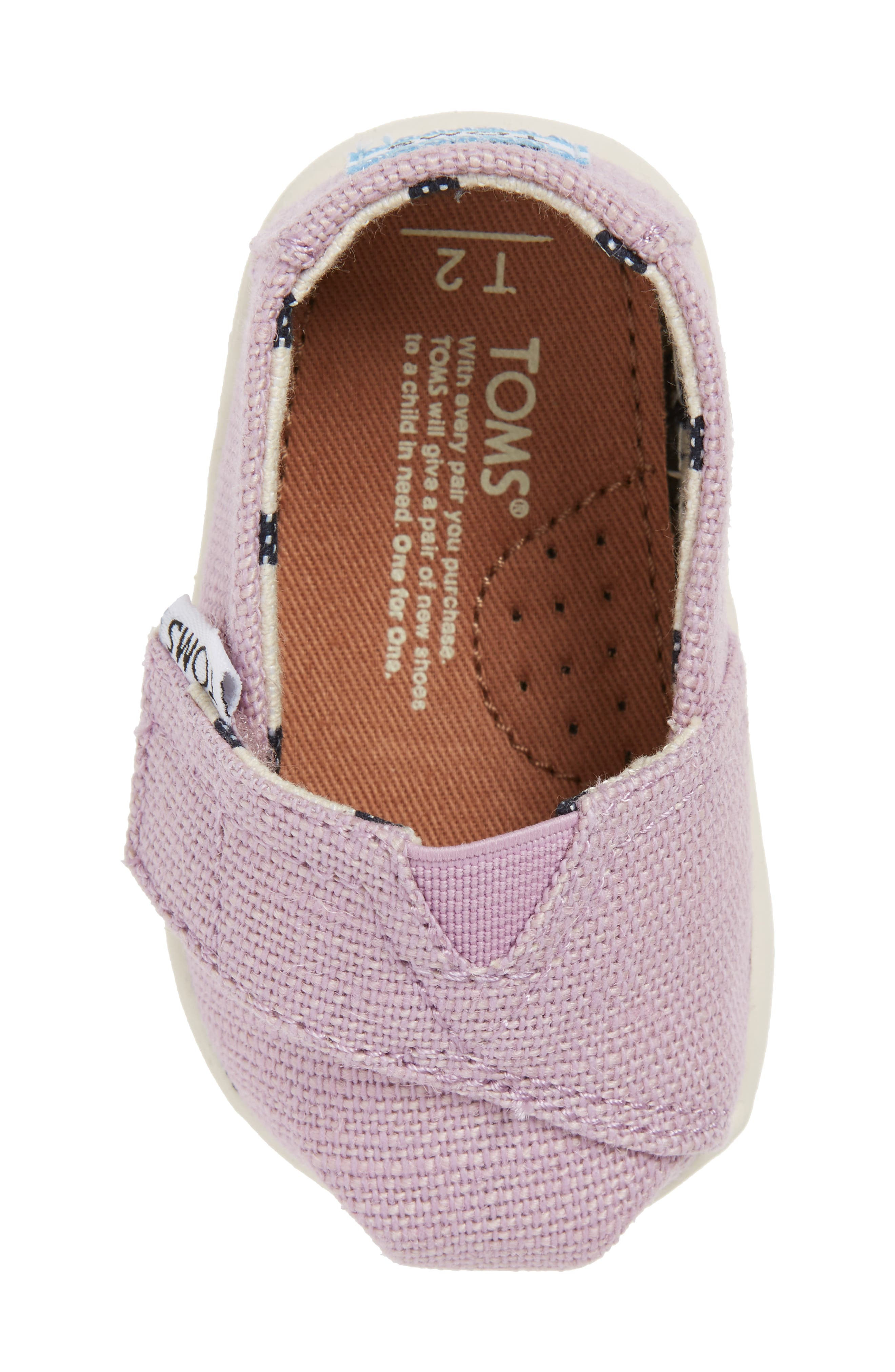 Heritage Canvas Slip-On,                             Alternate thumbnail 5, color,                             SOFT LILAC HERITAGE CANVAS